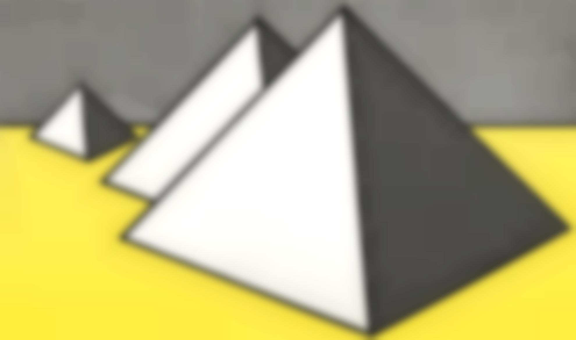 Roy Lichtenstein-Pyramids-1968