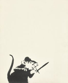 Banksy-Untitled (Rat And Sword)-2005