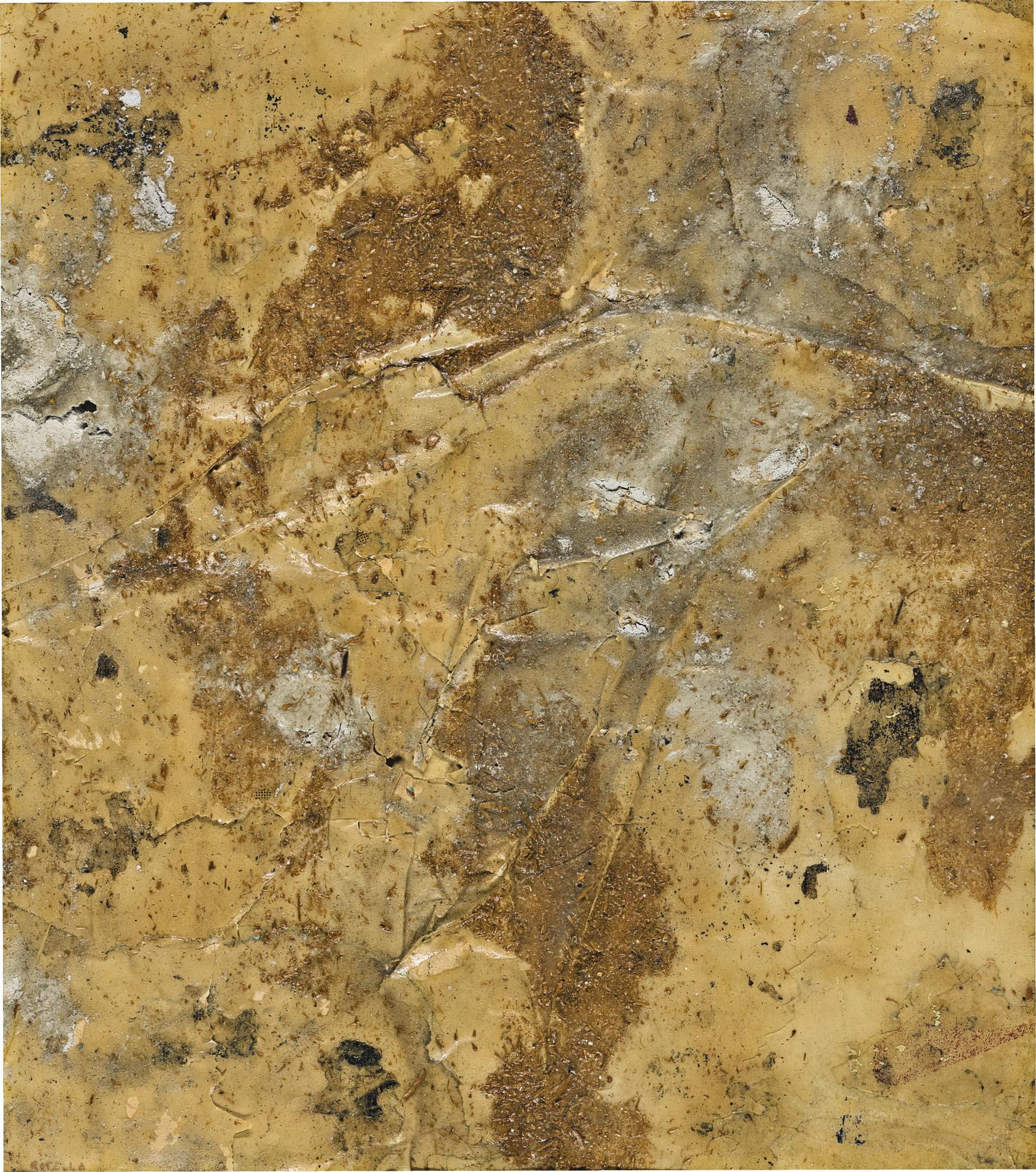 Mimmo Rotella-Materia Viva (Collage N. 9)-1956