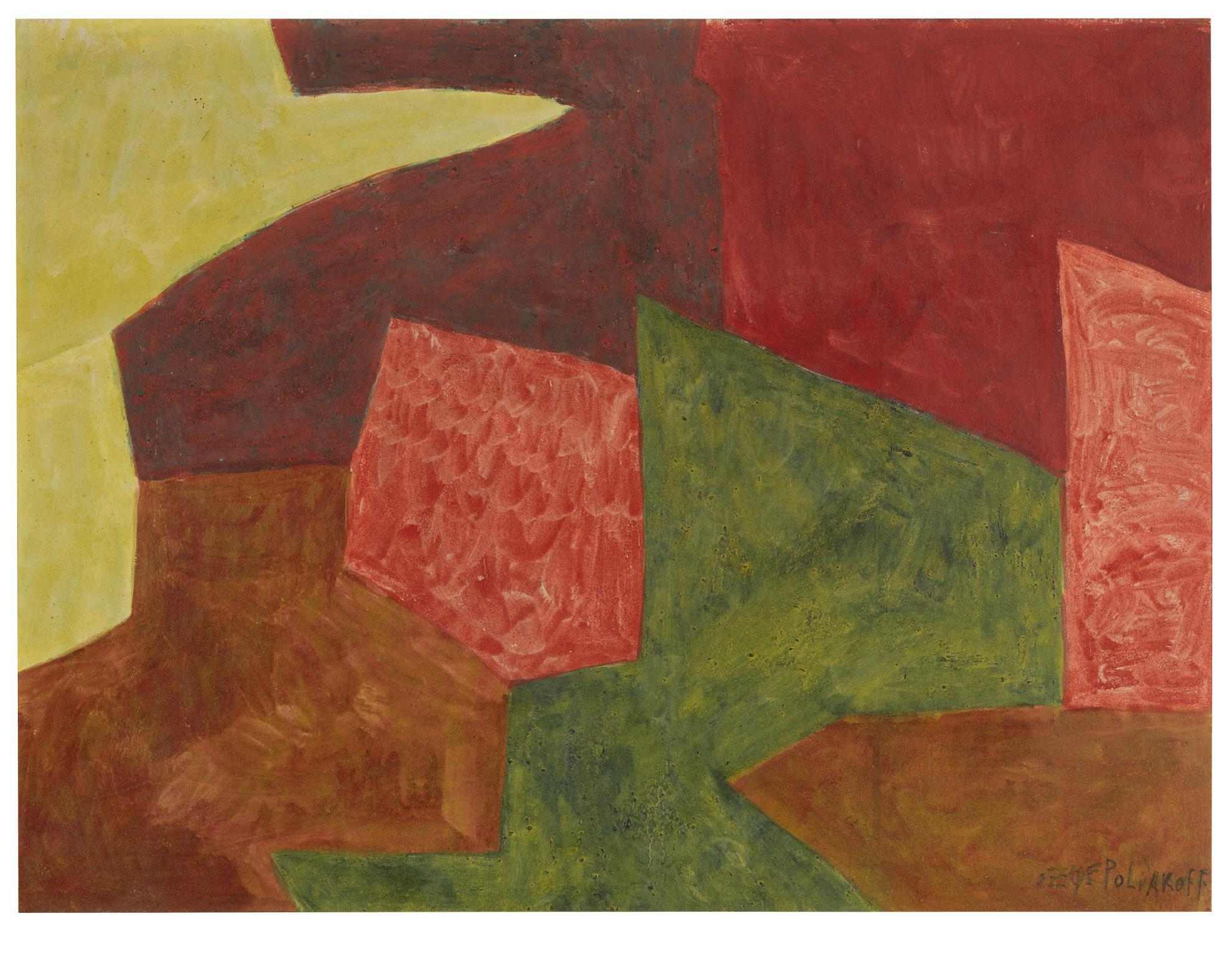 Serge Poliakoff-Composition Abstraite-1962