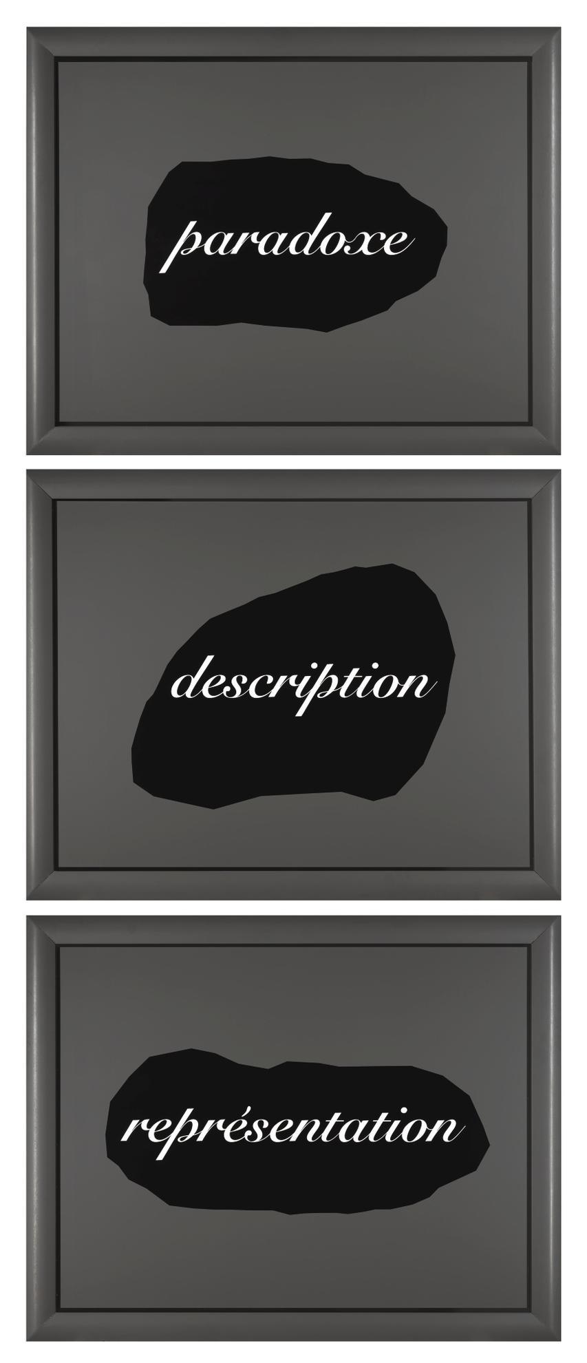Joseph Kosuth-Lessence De La Retorique Est Dans Lallegorie: Paradoxe, Description, Representation-1989