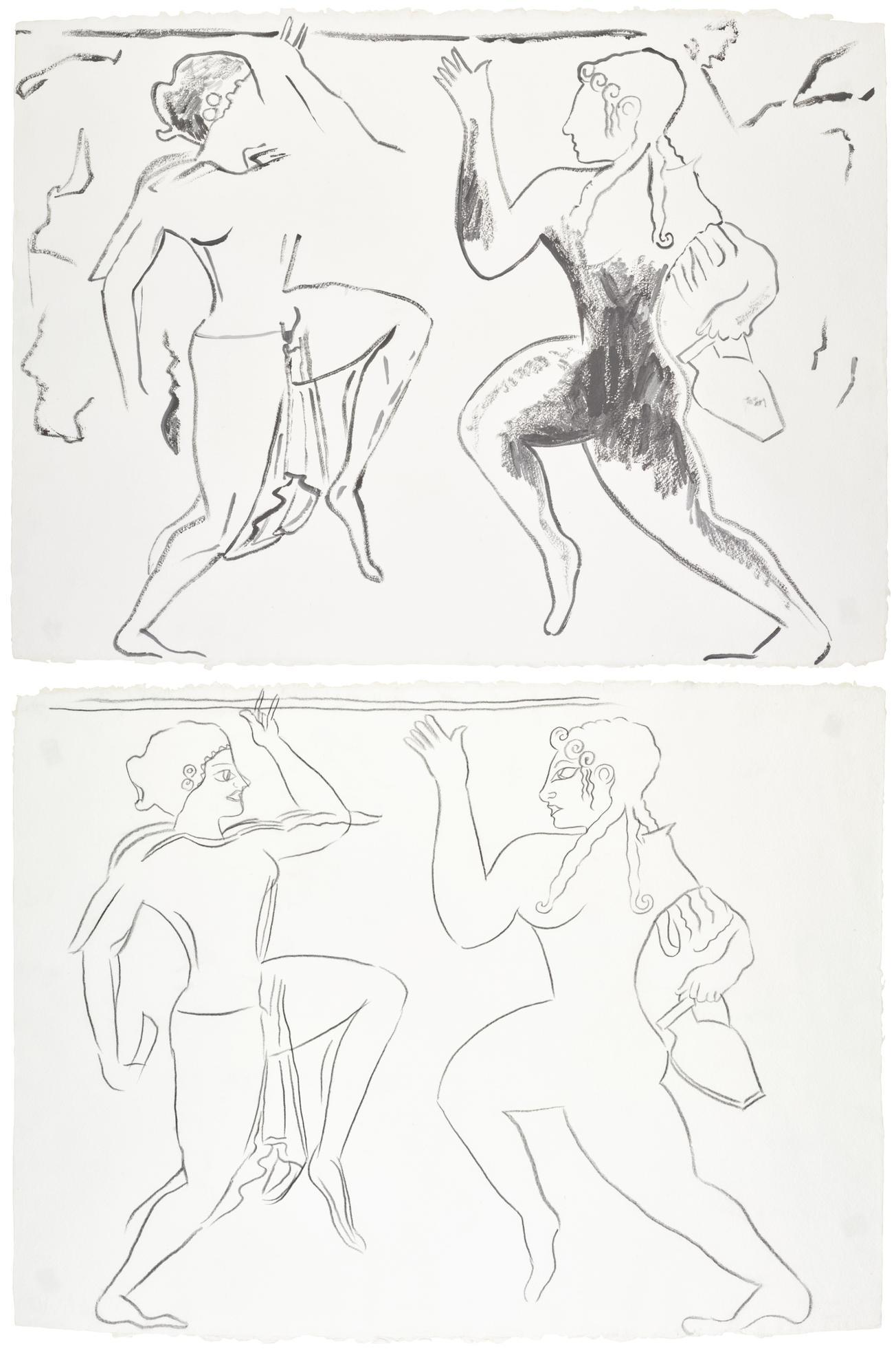 Andy Warhol-The Etruscan Scene: Female Ritual Dance I And Ii-1985