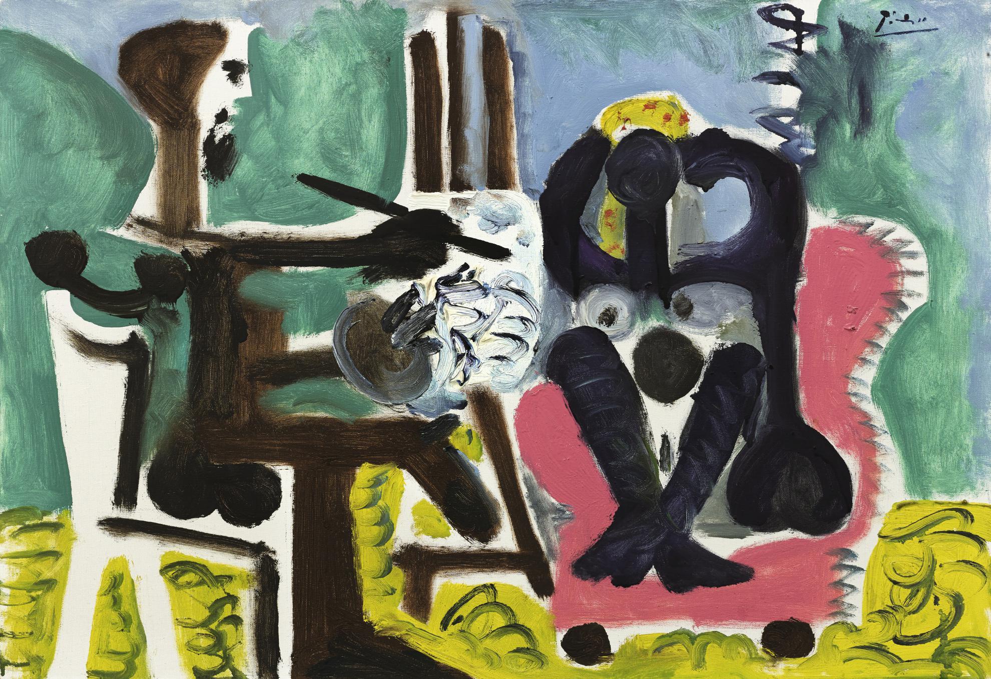 Pablo Picasso-Le Peintre Et Son Modele-1963