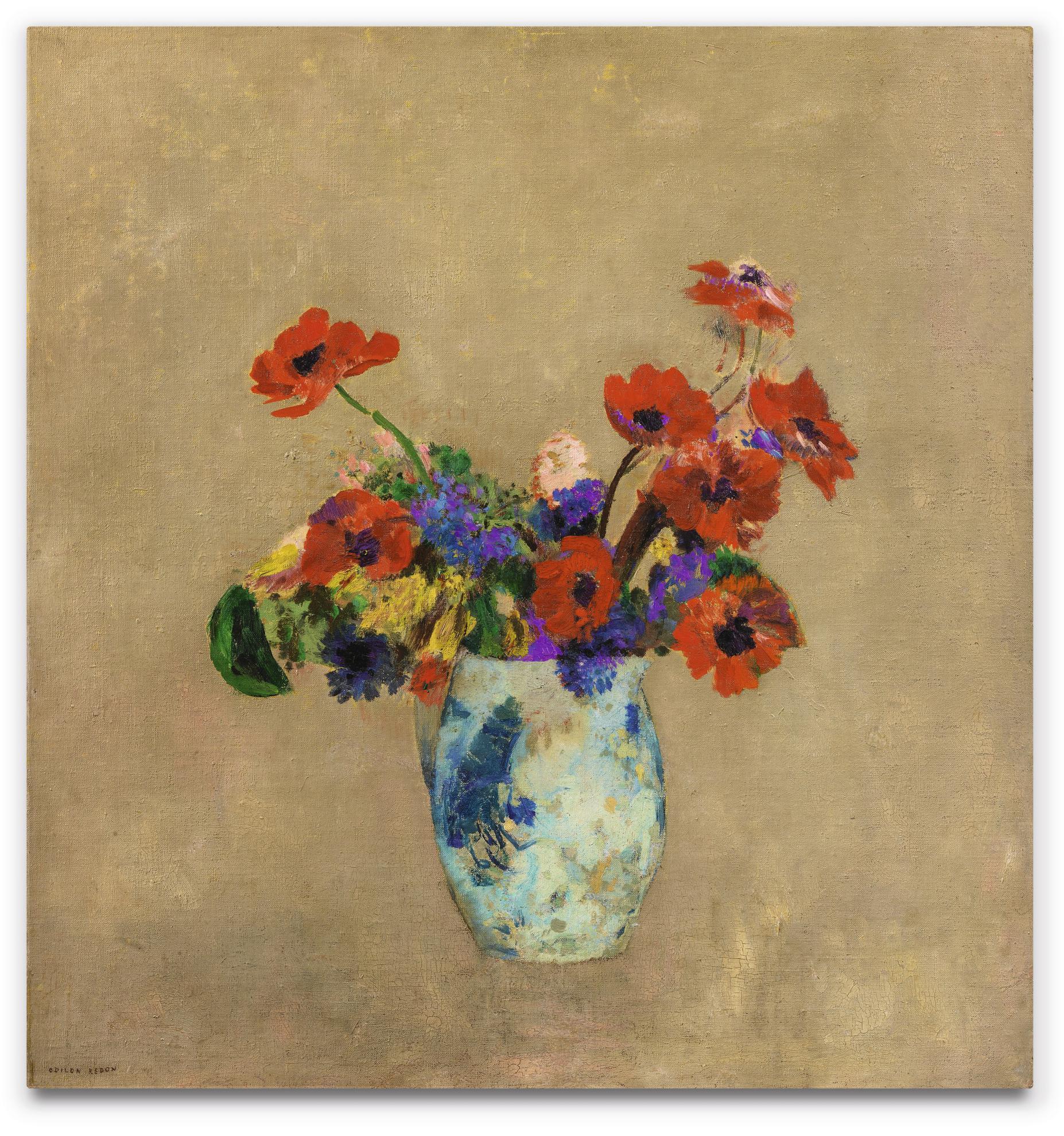 Odilon Redon-Vase De Fleurs-1895