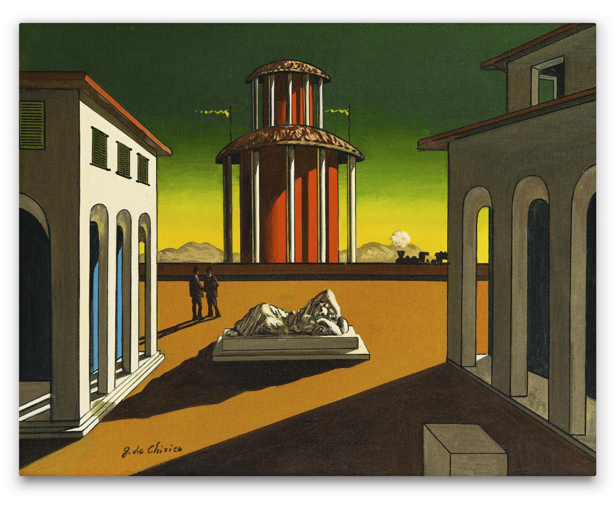 Giorgio de Chirico-Piazza Ditalia-1954