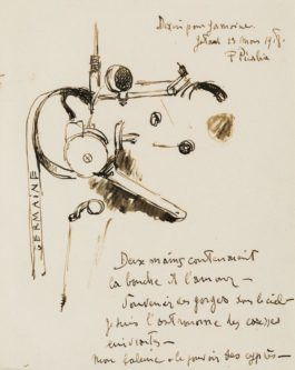 Francis Picabia-Dessin Pour Germaine (Letter-Drawing)-1918