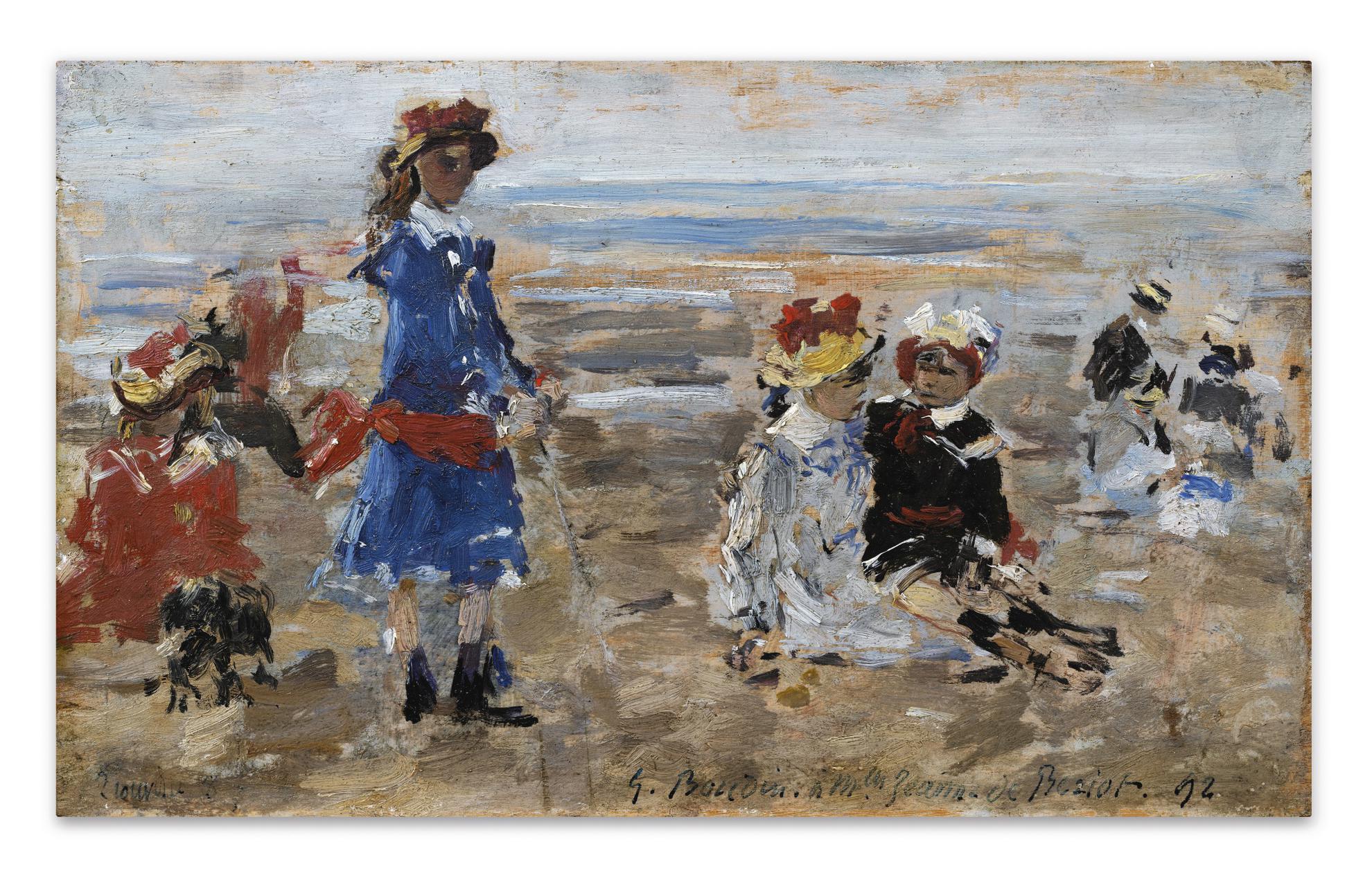 Eugene Louis Boudin-Les Enfants De Beriot Sur La Plage-1892
