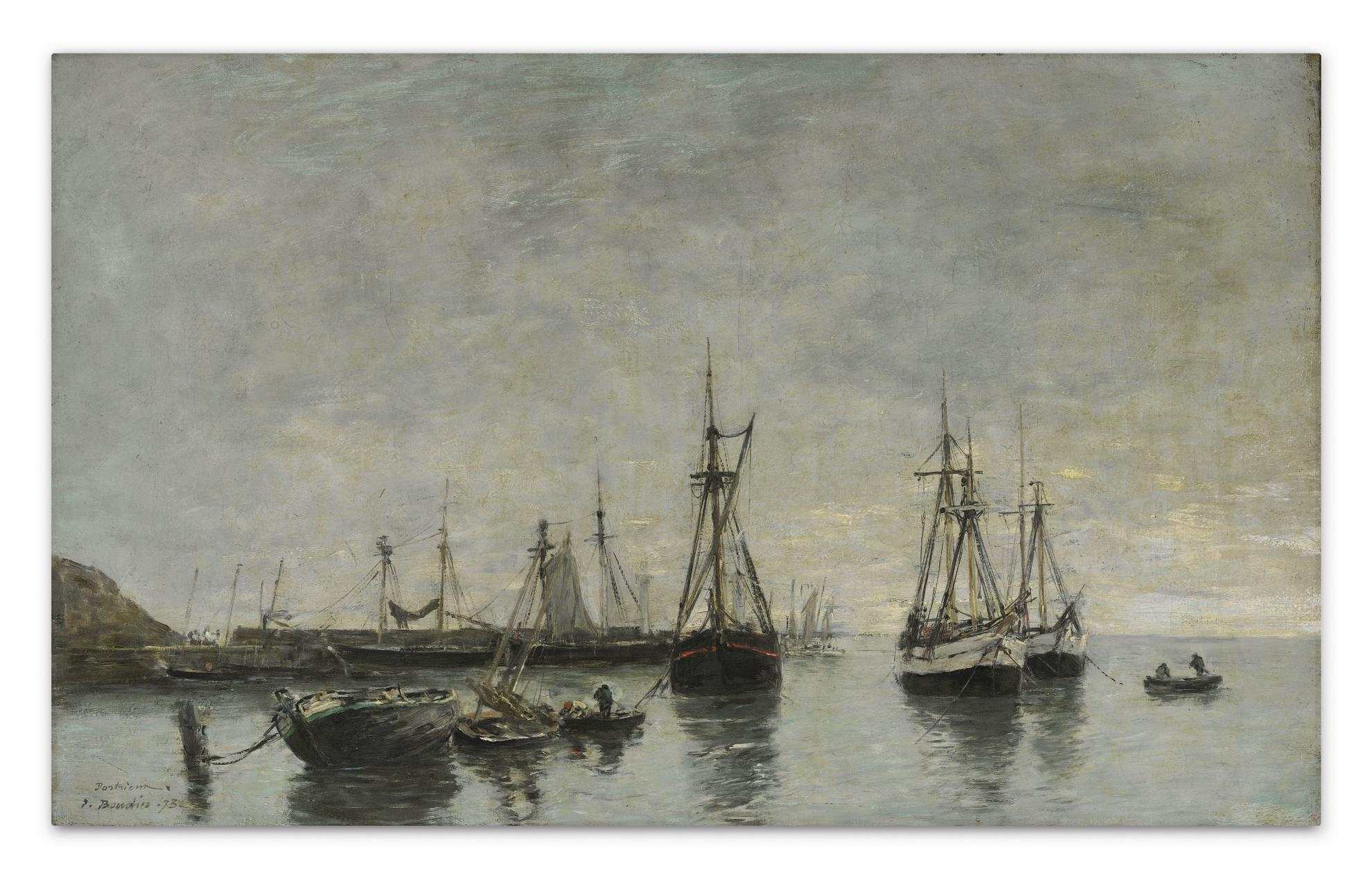 Eugene Louis Boudin-Portrieux, Le Matin, Maree Haute-1873