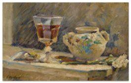 Edouard Vuillard-Le Verre De Madere-1890