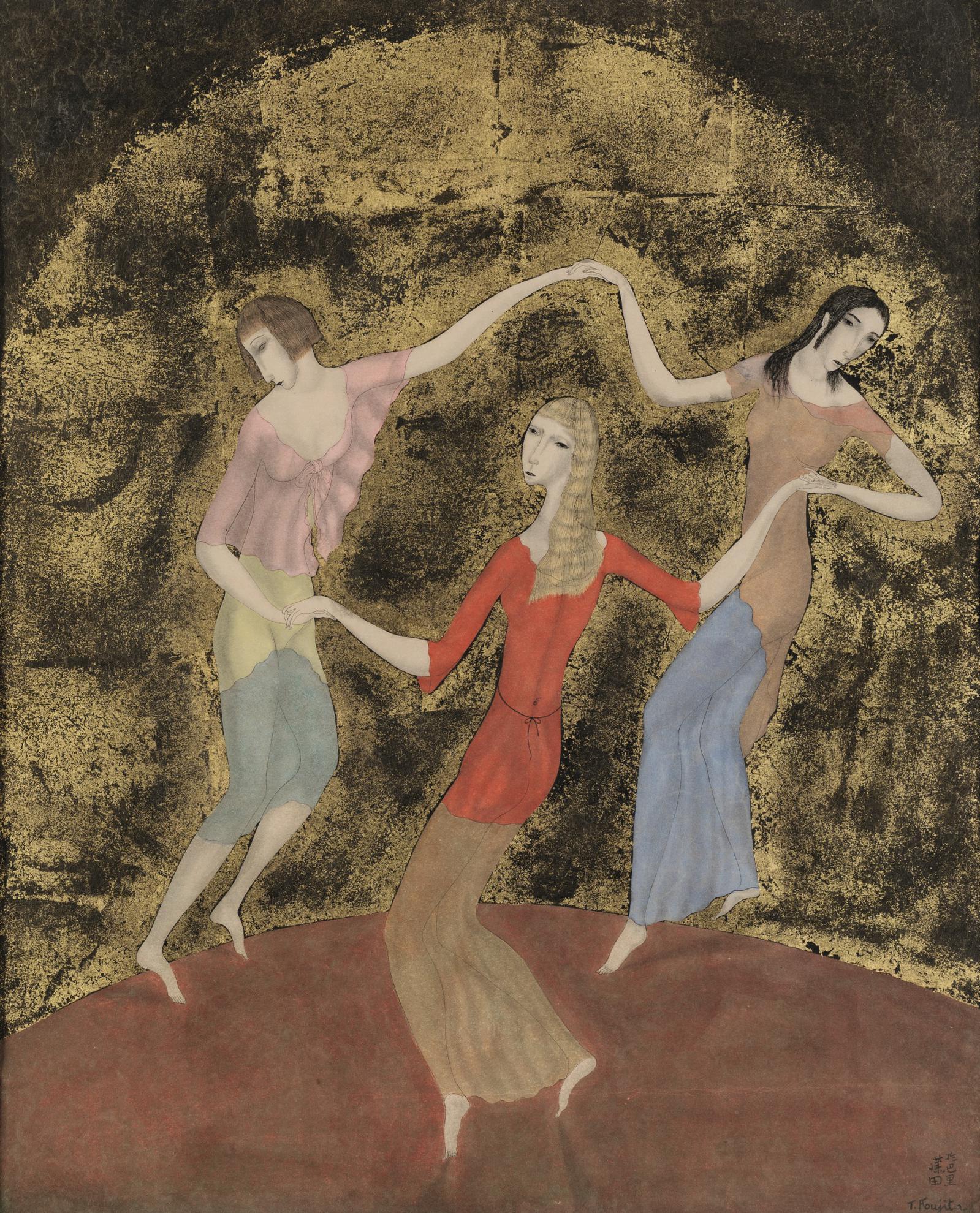 Tsuguharu Foujita-Les Trois Danseuses Ou La Ronde-1918