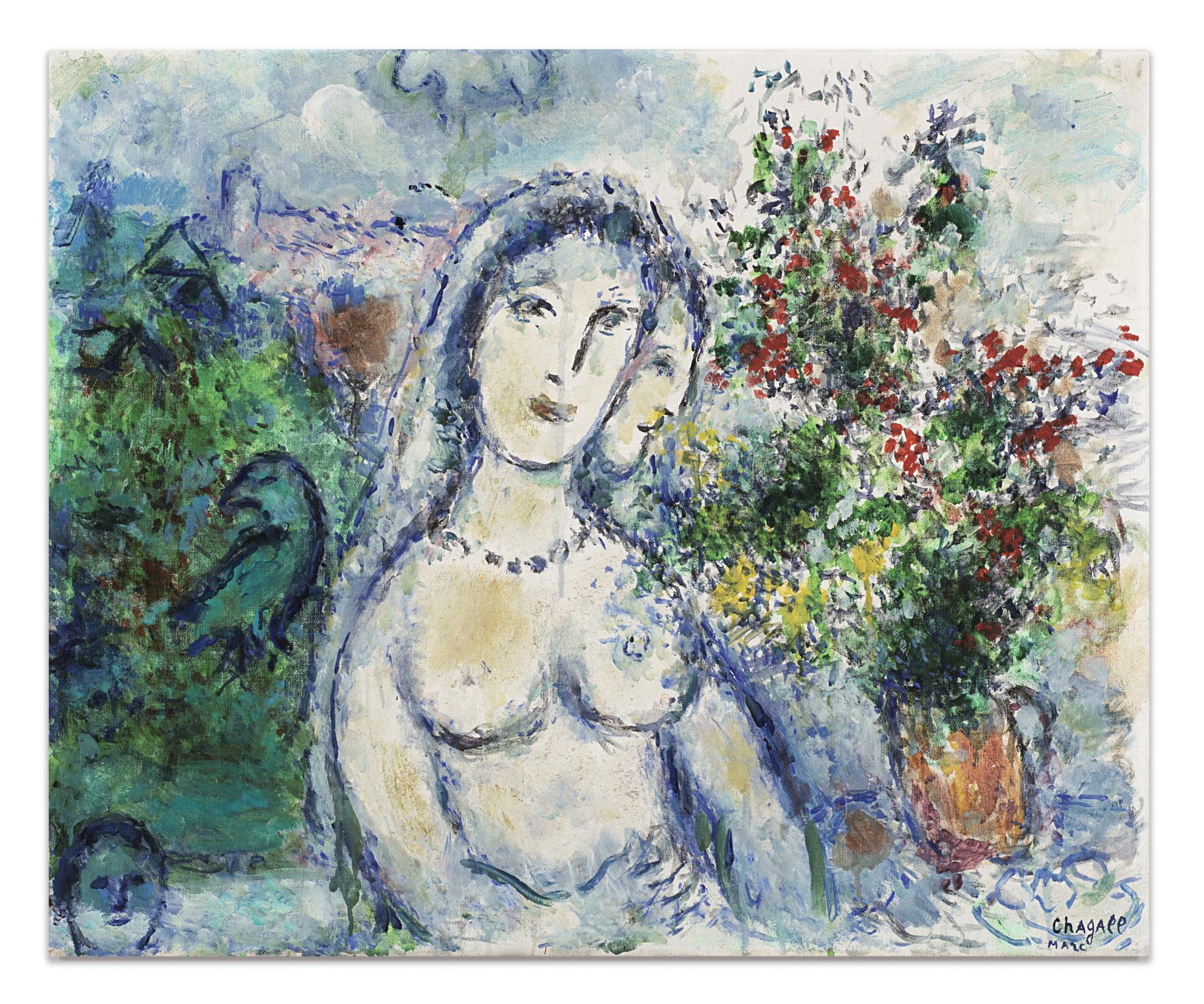 Marc Chagall-La Mariee Au Collier-1980