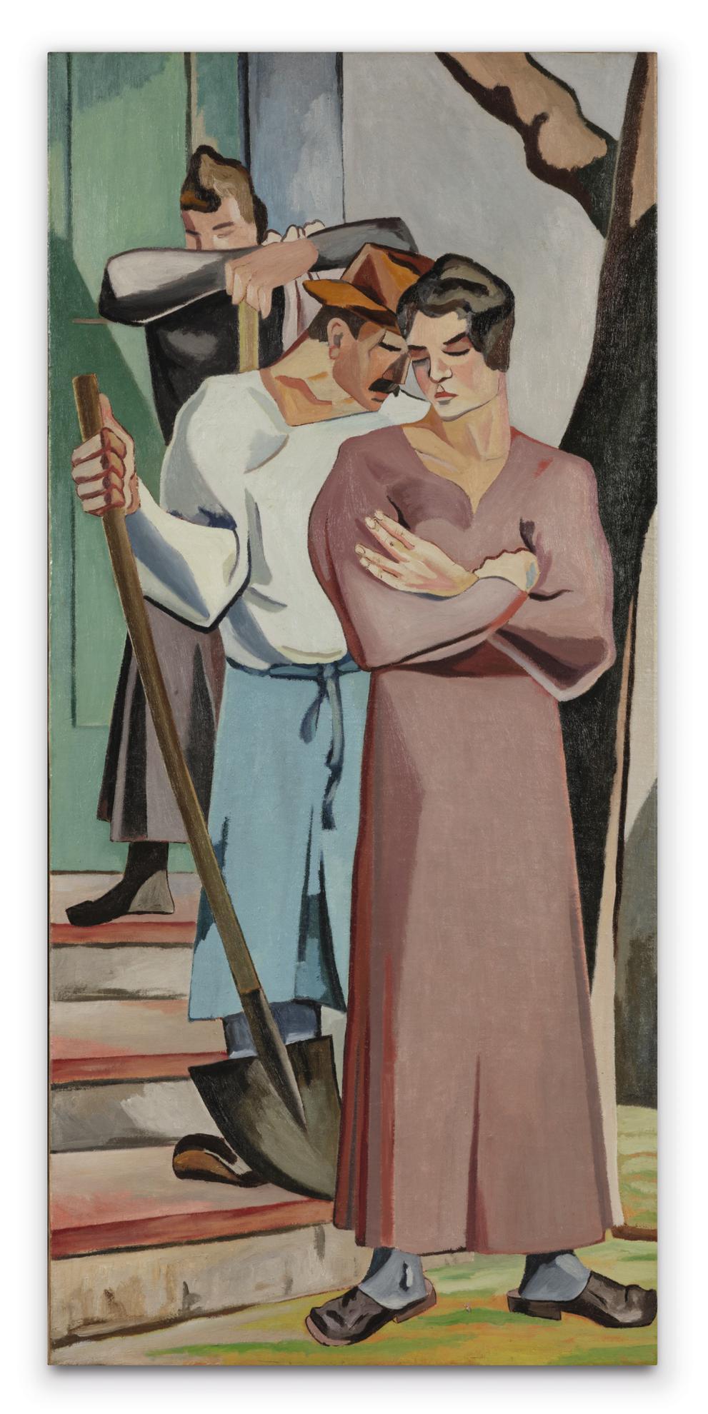 Alberto Magnelli-Trois Paysans Sur Lescalier-1928
