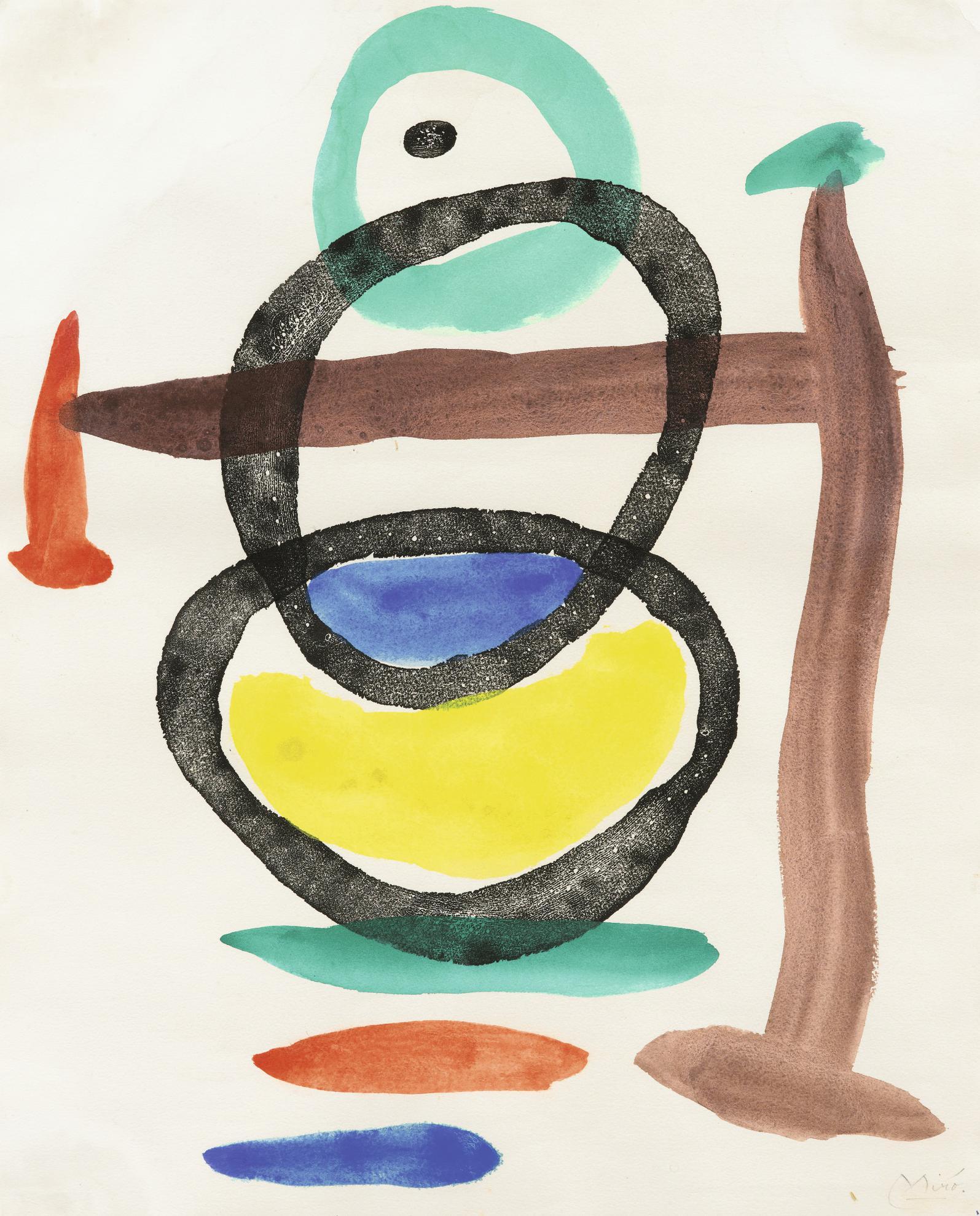 Joan Miro-Sans Titre-1953