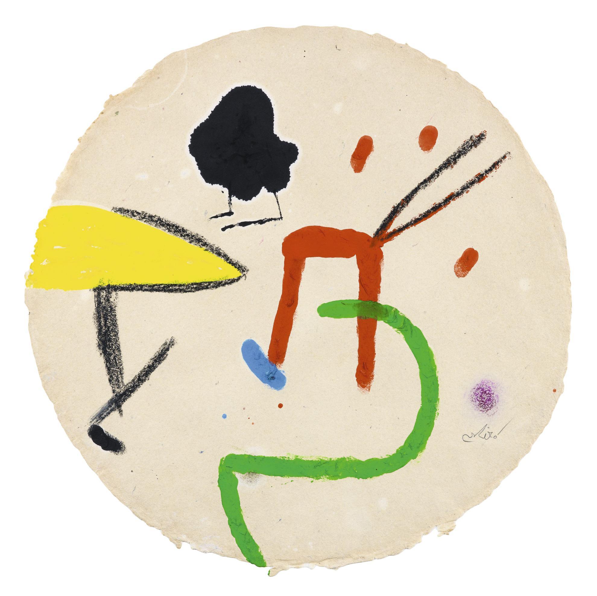 Joan Miro-Personnages, Oiseau-1981