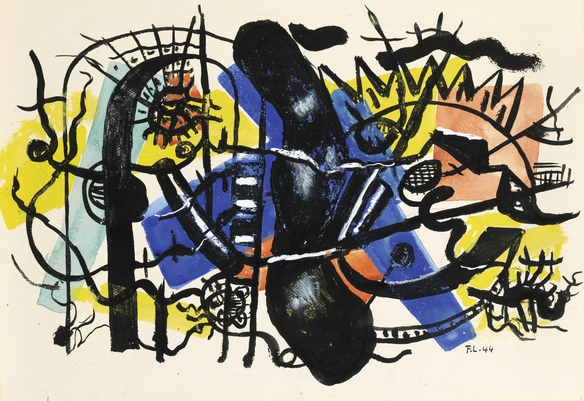 Fernand Leger-Composition-1944
