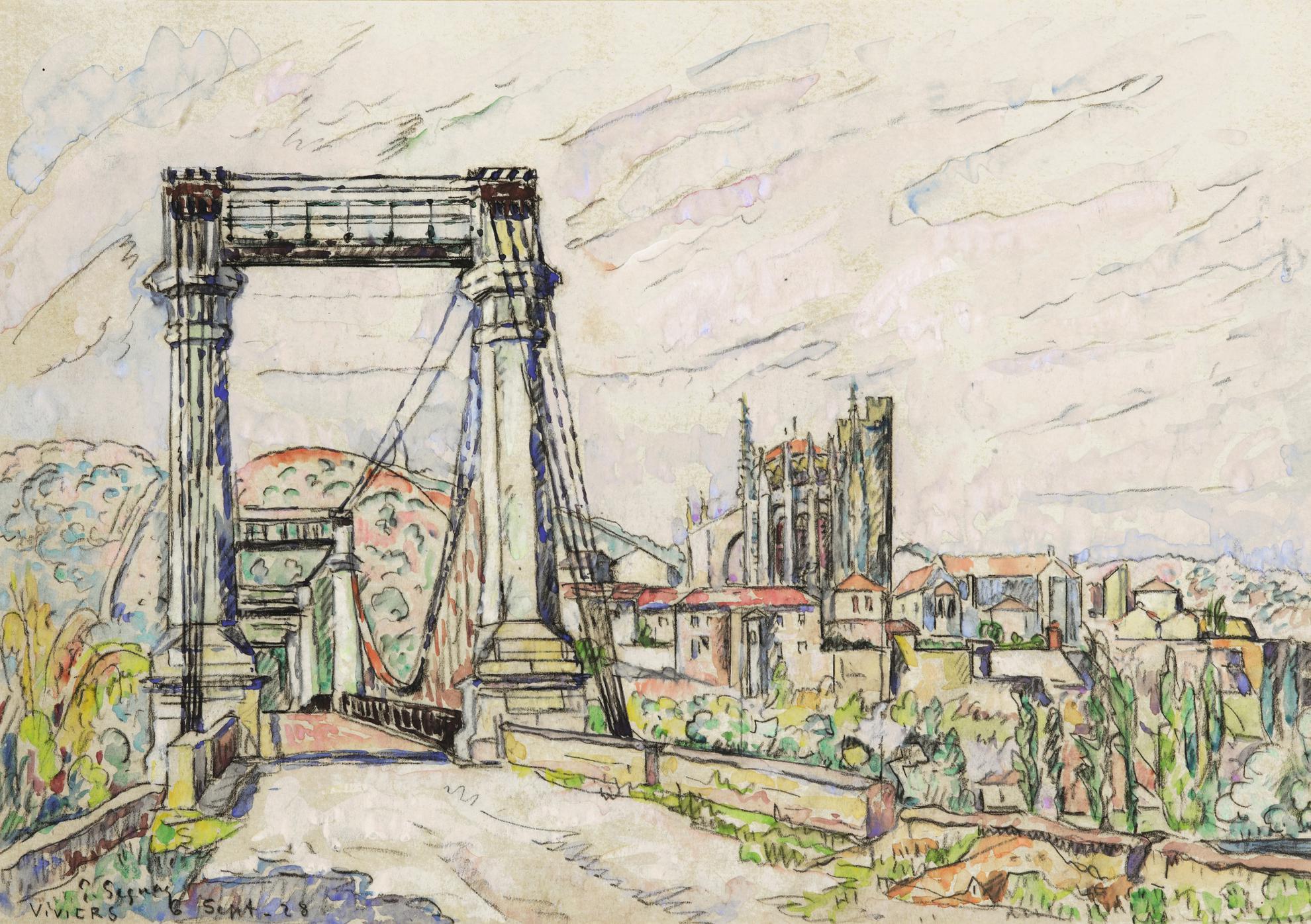 Paul Signac-Viviers, Le Pont-1928