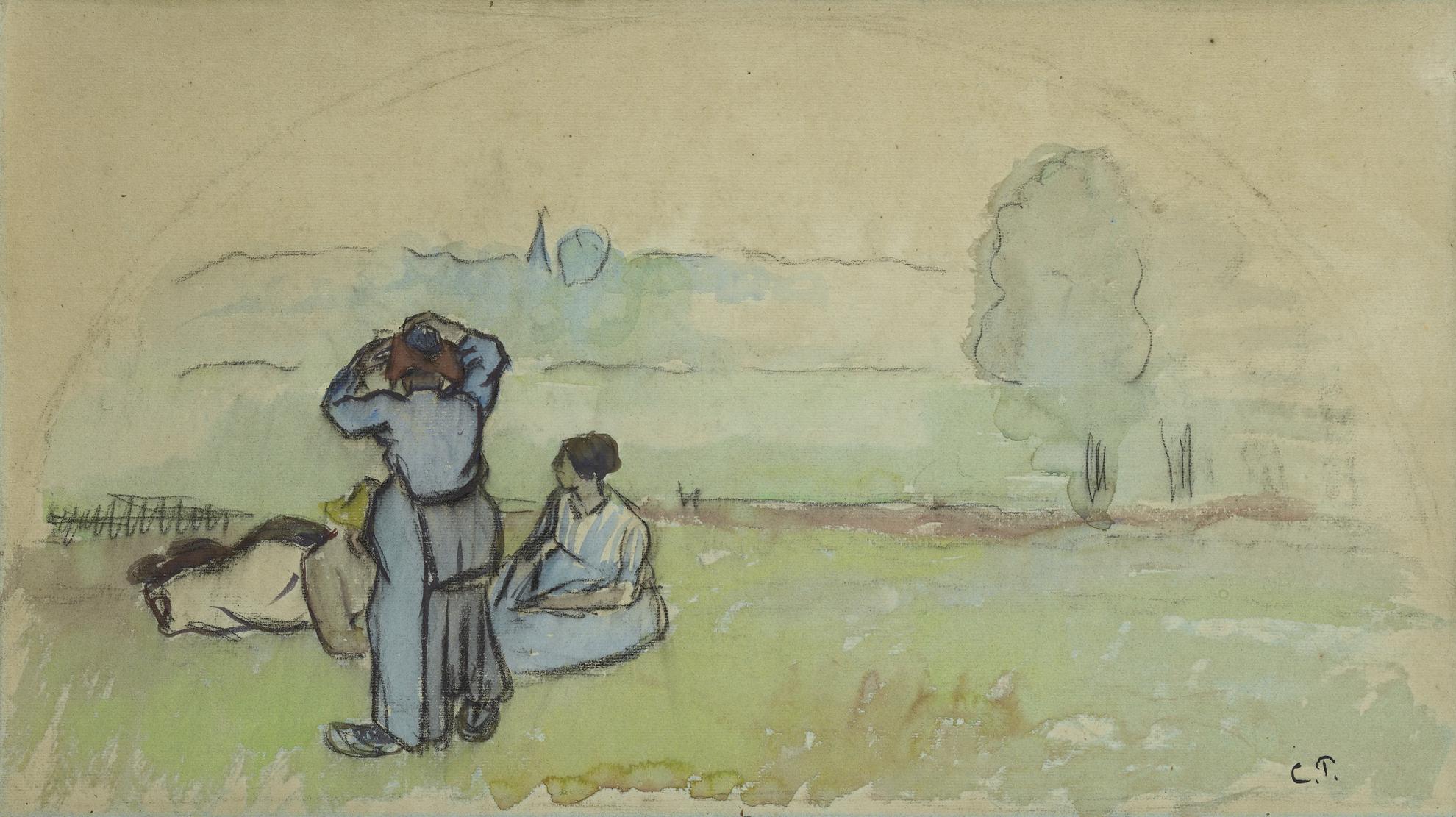 Camille Pissarro-Projet Deventail-1880