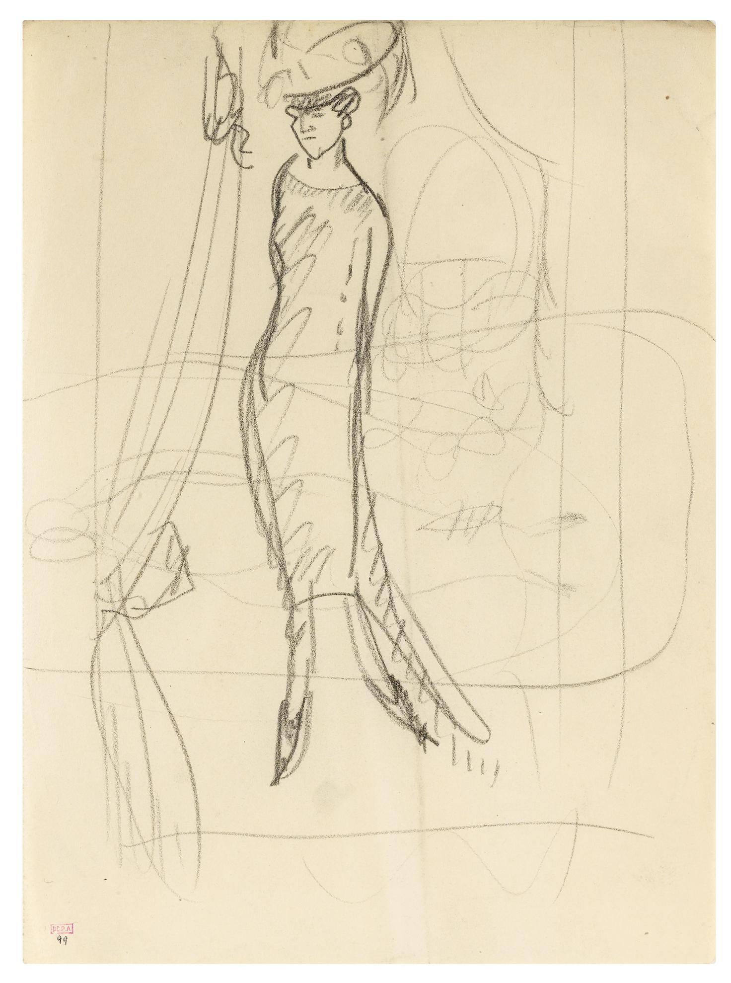 Amedeo Modigliani-Miss Lawler (?) Sur Scene A La Gaite-Rochechouart-1999
