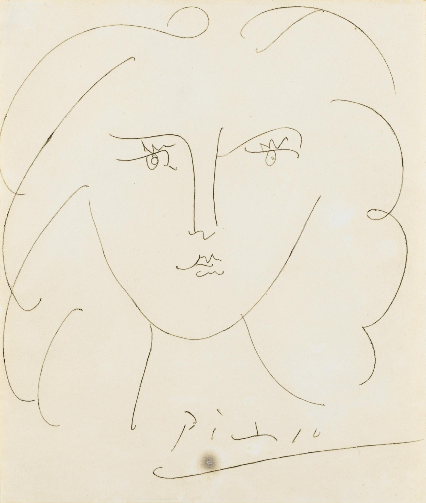 Pablo Picasso-Visage De Femme-1943