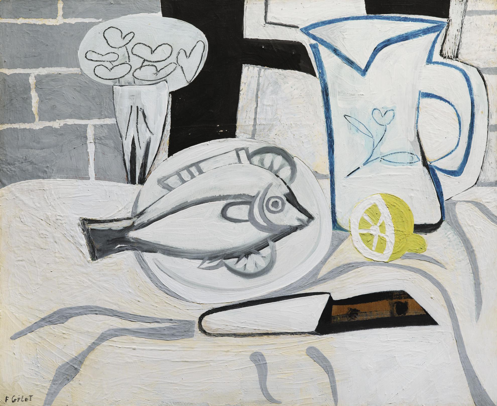 Francoise Gilot-Poisson Et Citrons-1951