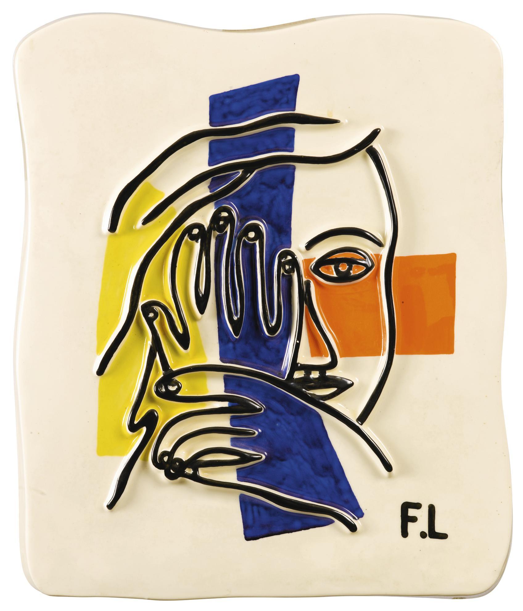 Fernand Leger-After Fernand Leger - Visage A Deux Mains-1990