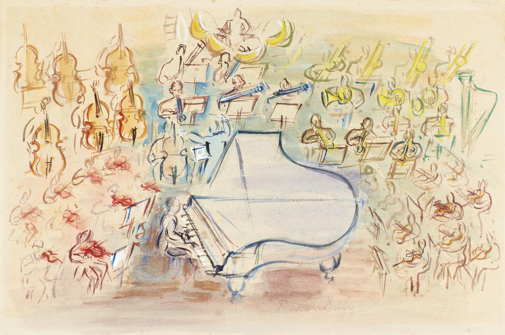 Raoul Dufy-Etude Pour La Pianiste-
