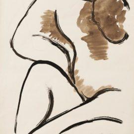 Man Ray-Seated Nude-1953