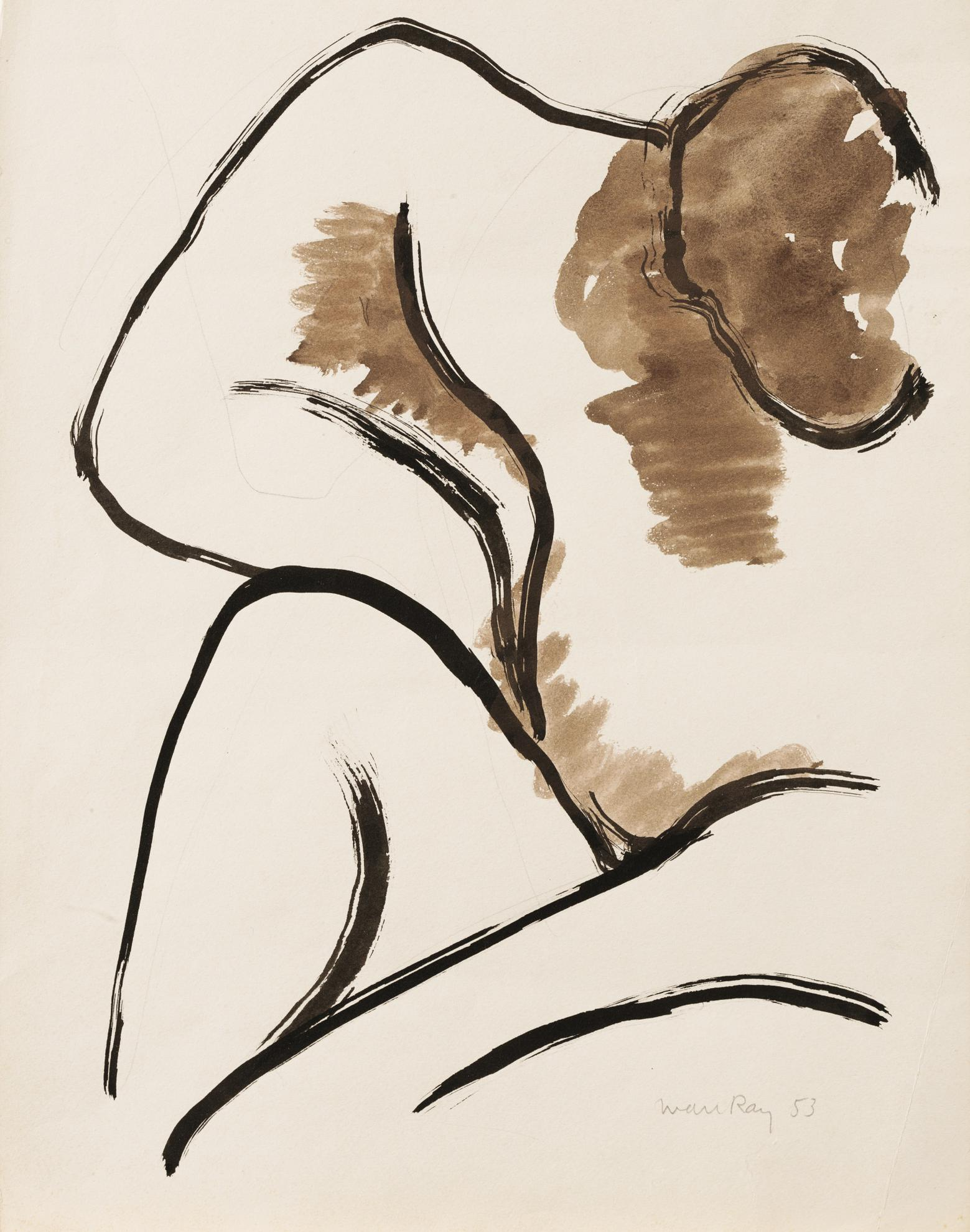 Man Ray-Seated Nude-1953