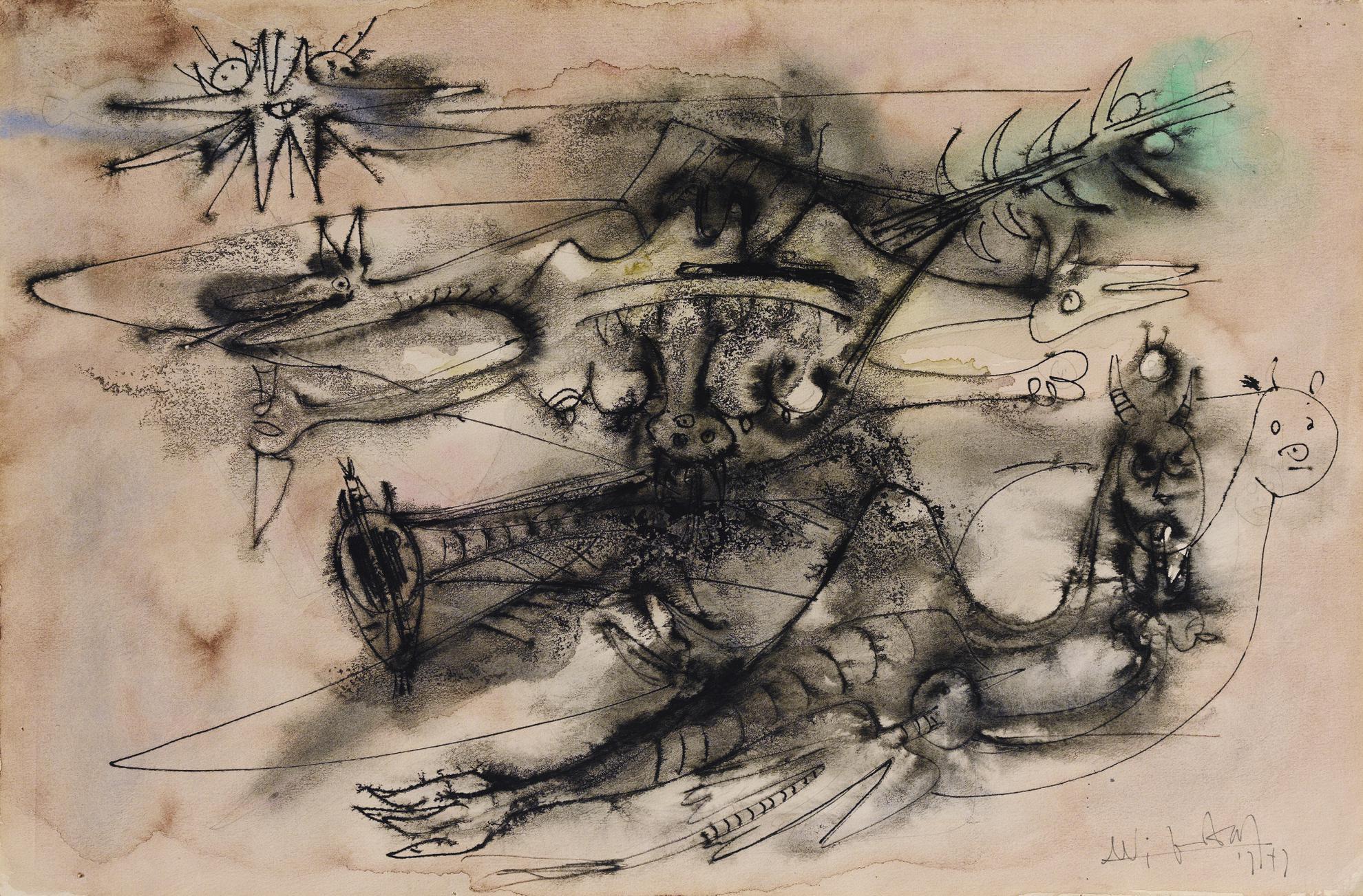 Wifredo Lam-Sans Titre-1947