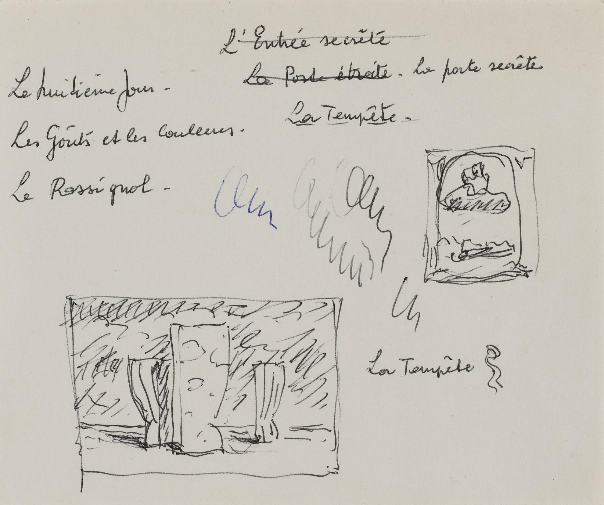 Rene Magritte-Dessin Sans Titre-