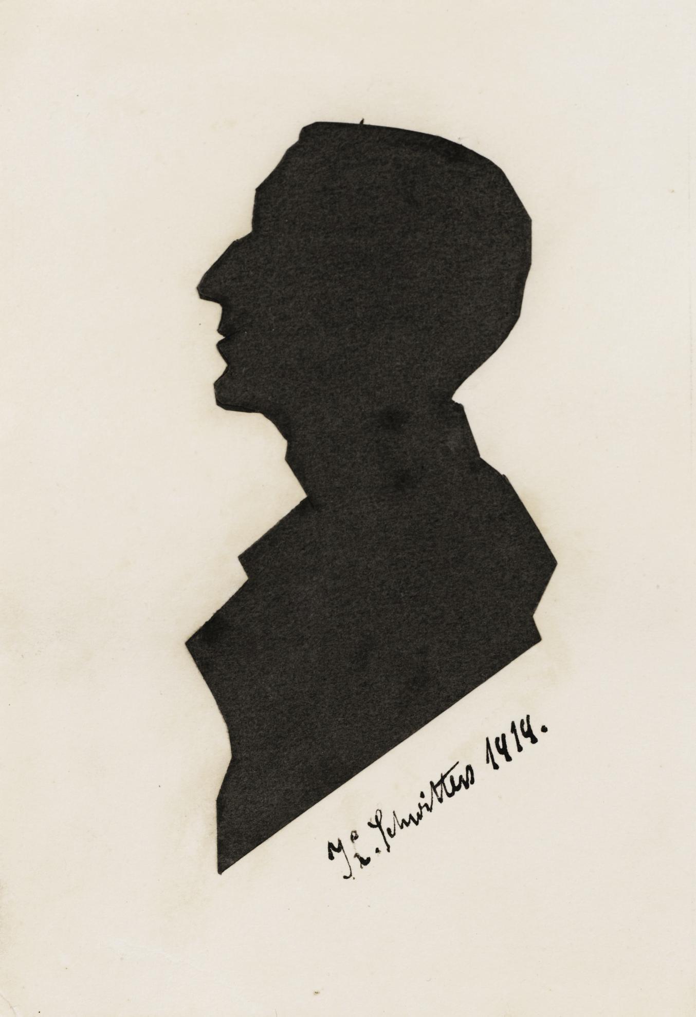 Kurt Schwitters-Ohne Titel (Scherenschnitt Eines Unbekannten) Untitled (Silhouette Of A Stranger)-1919