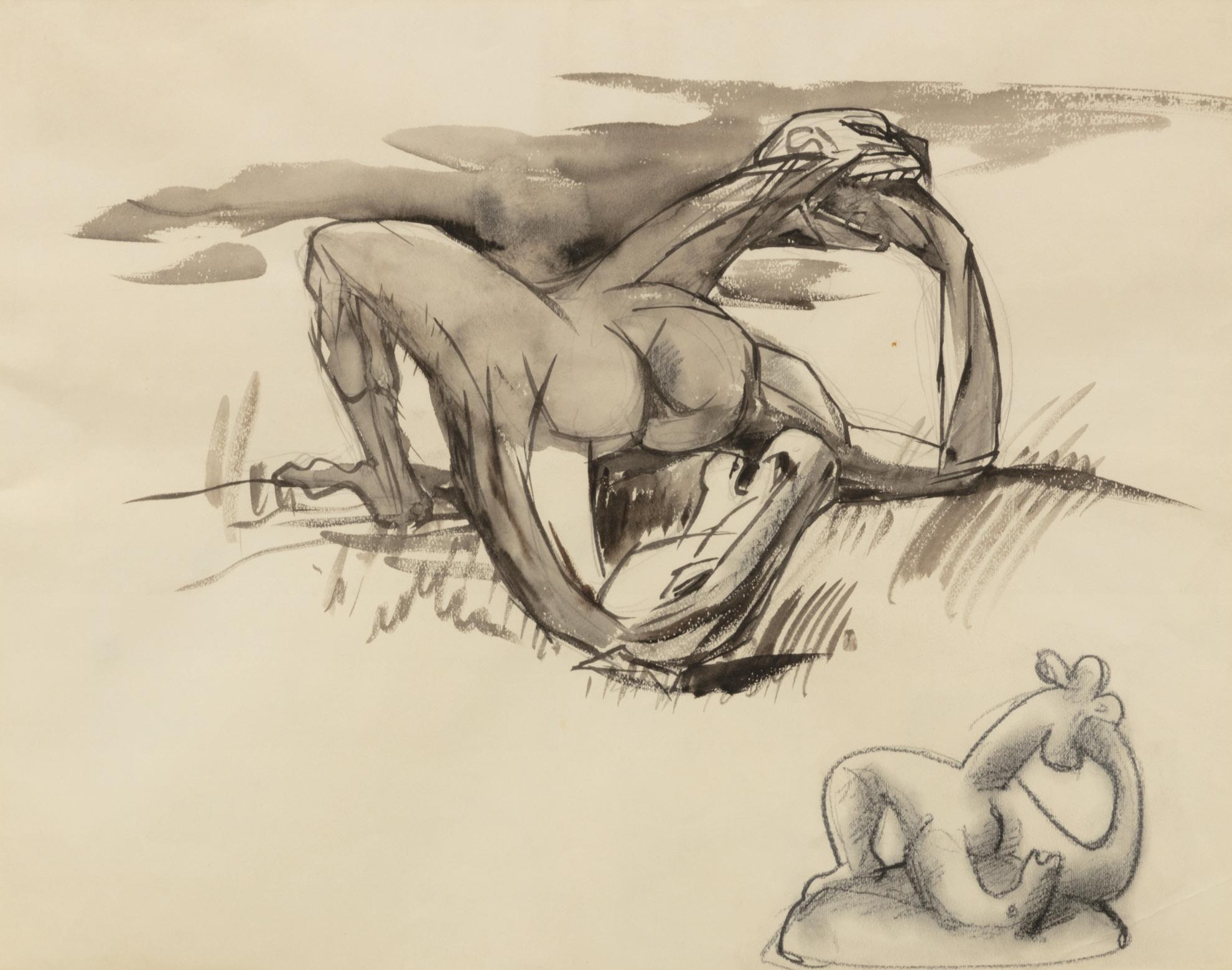 Andre Masson-Etude Pour La Sculpture Metamorphose-1928