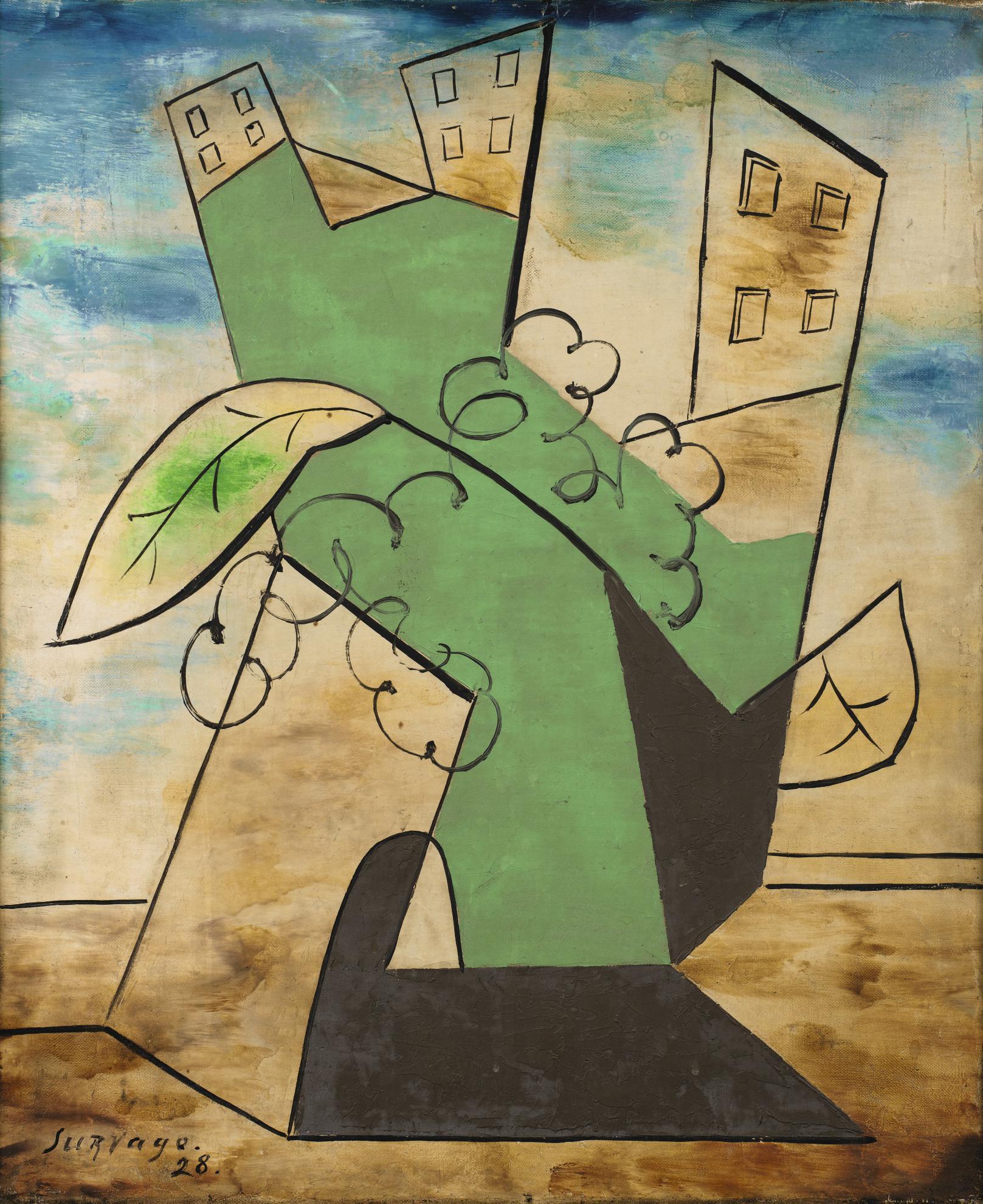 Leopold Survage-Paysage-1928