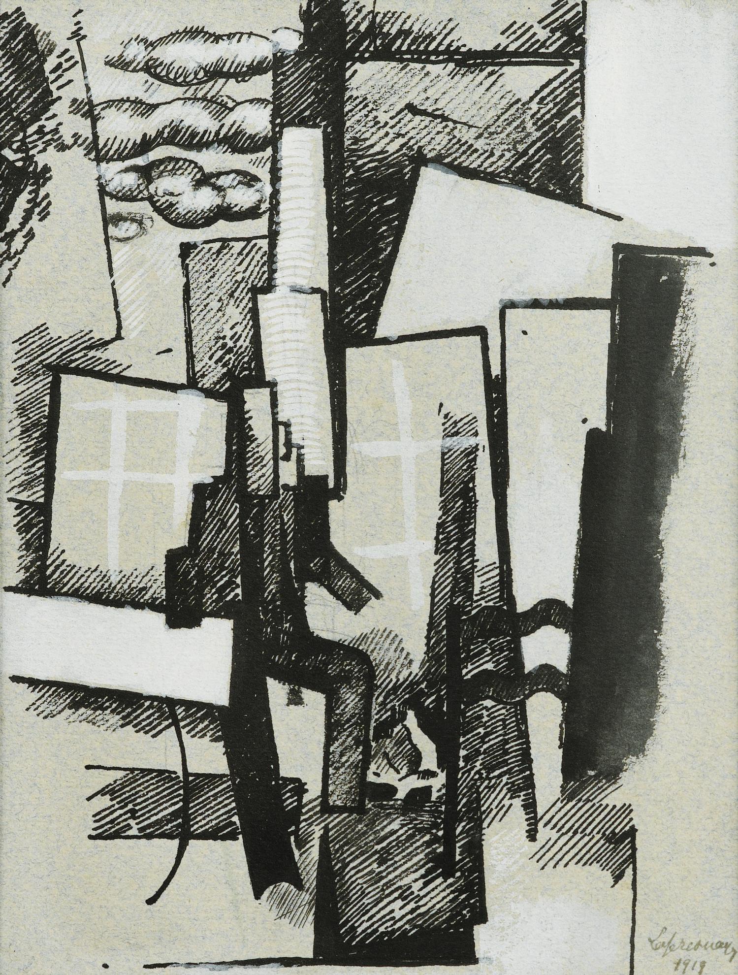 Roger de La Fresnaye-Le Jardin, Version A Lencre-1919