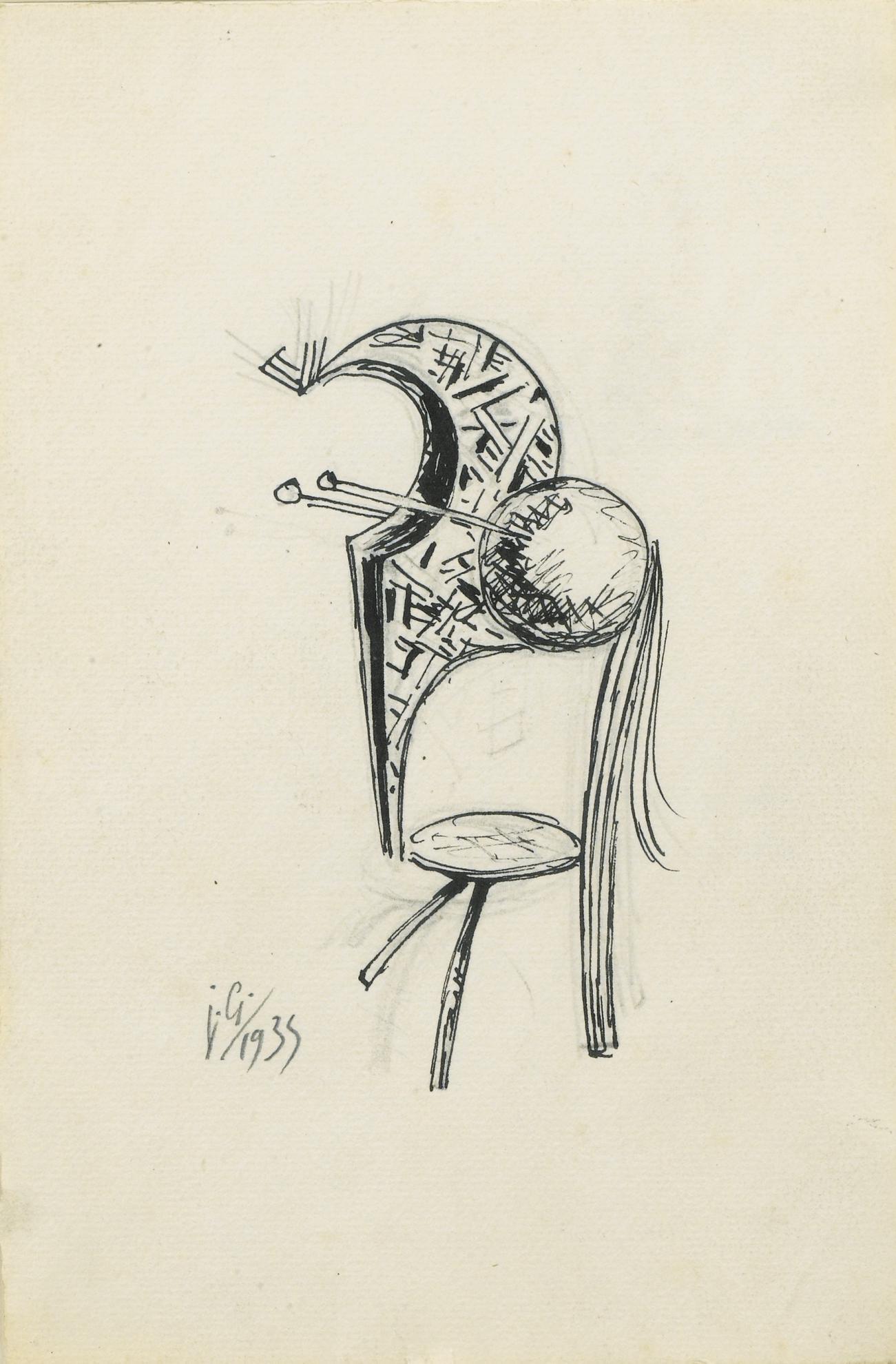 Julio Gonzalez-Personnage Avec Boule-1935