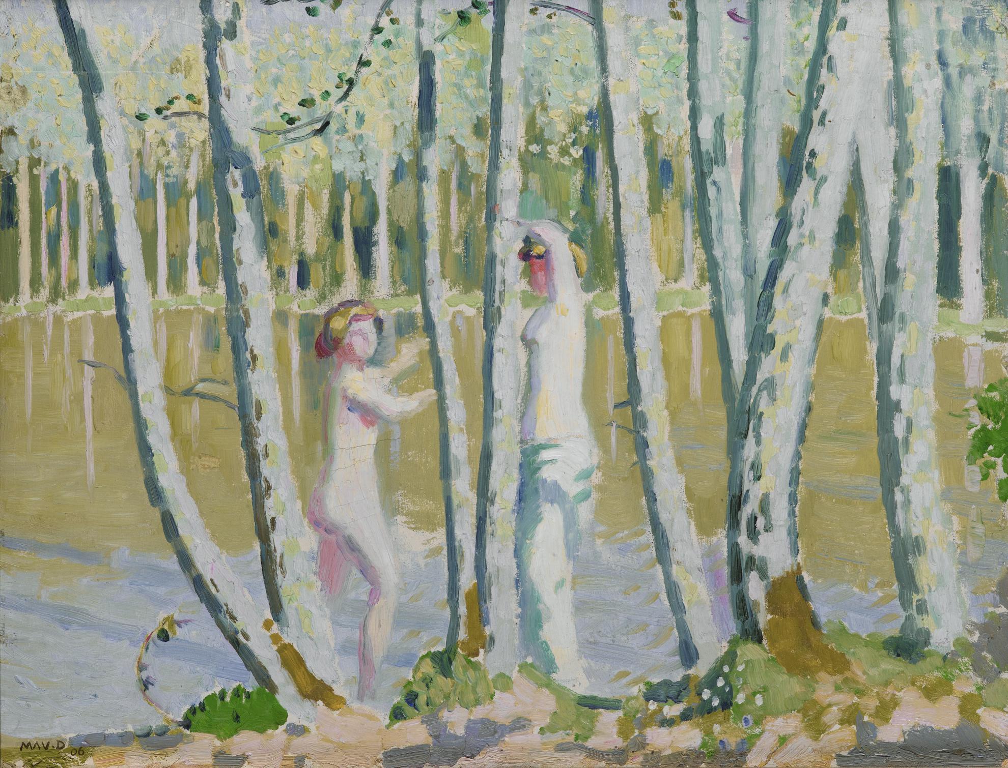 Maurice Denis-Printemps Dans La Foret, Etude Ou Paysage Blanc-1906