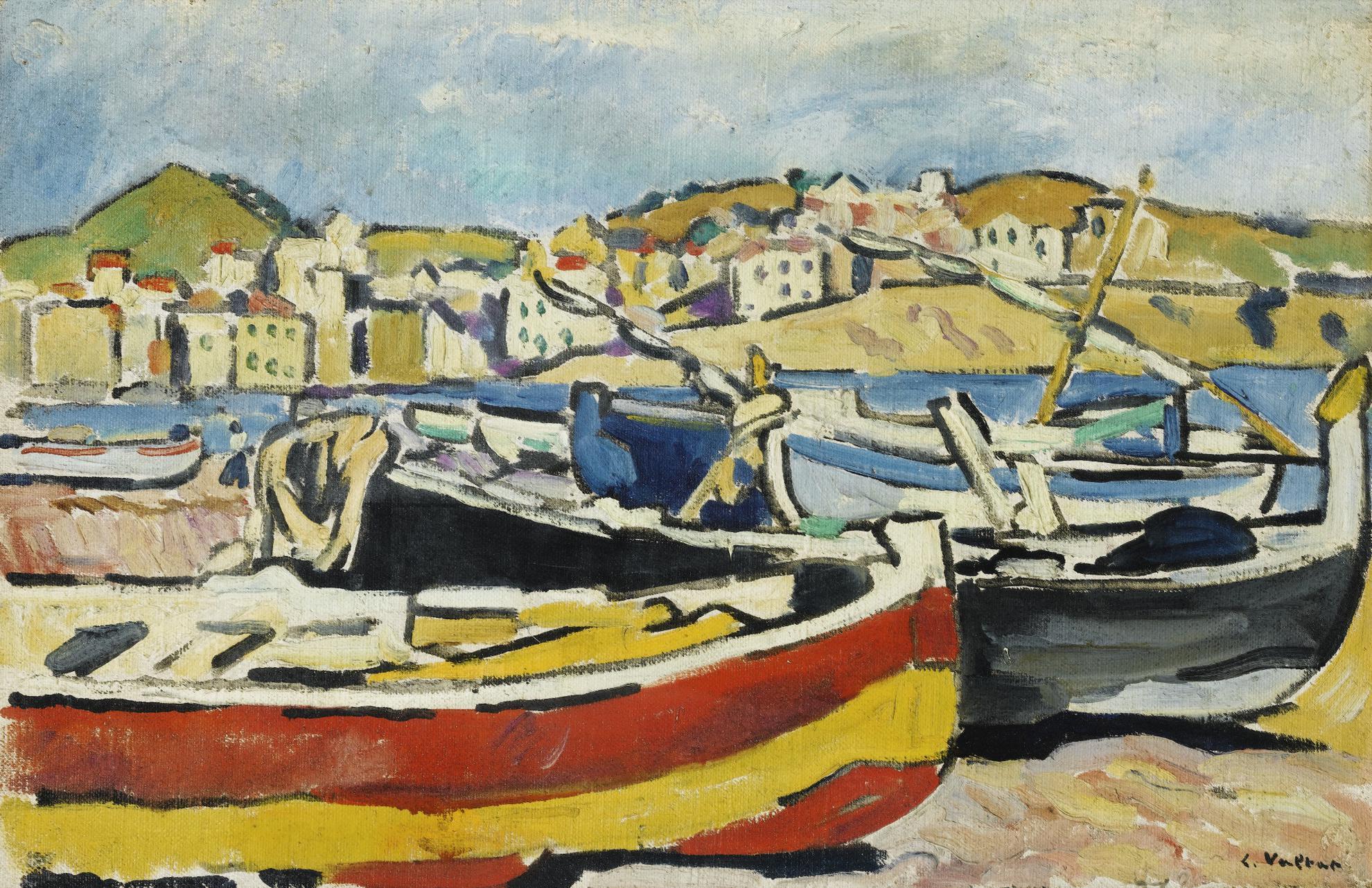 Louis Valtat-Barques A Banyuls-1927