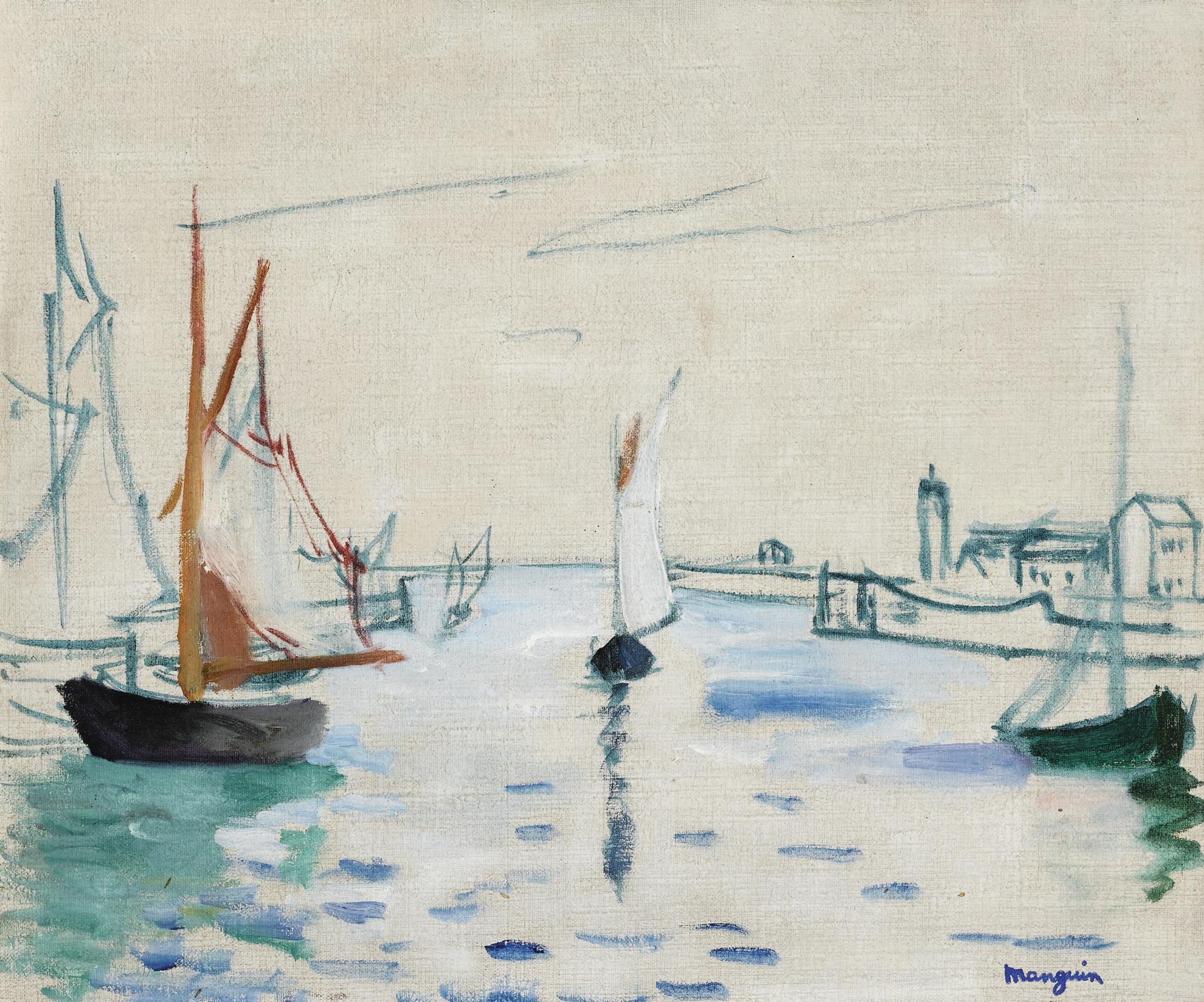 Henri Charles Manguin-Honfleur, Le Petit Port-1924