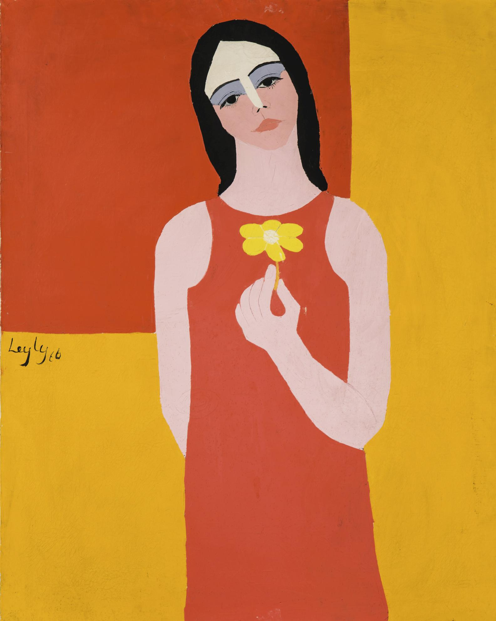 Leyly Matine Daftary - Girl With Flower No.21-1966