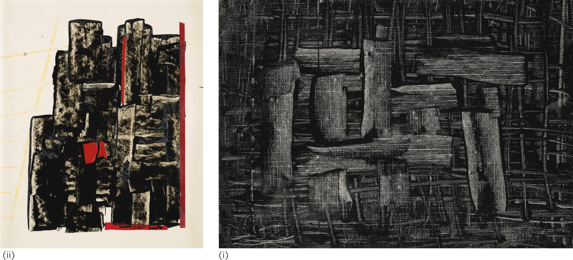 Behjat Sadr - (i) (ii) Untitled-1970