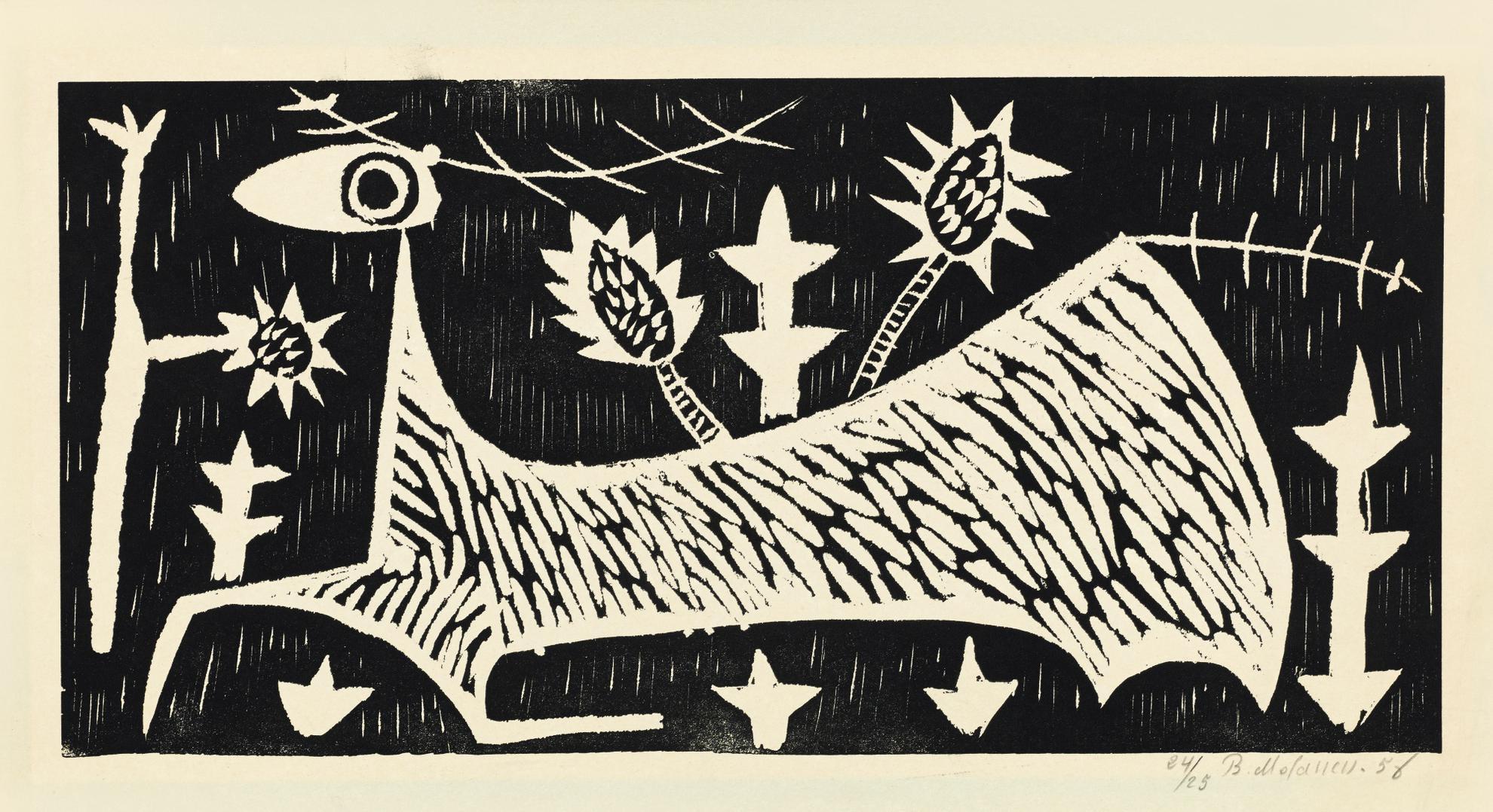 Bahman Mohasses - Cervo (Deer)-1956