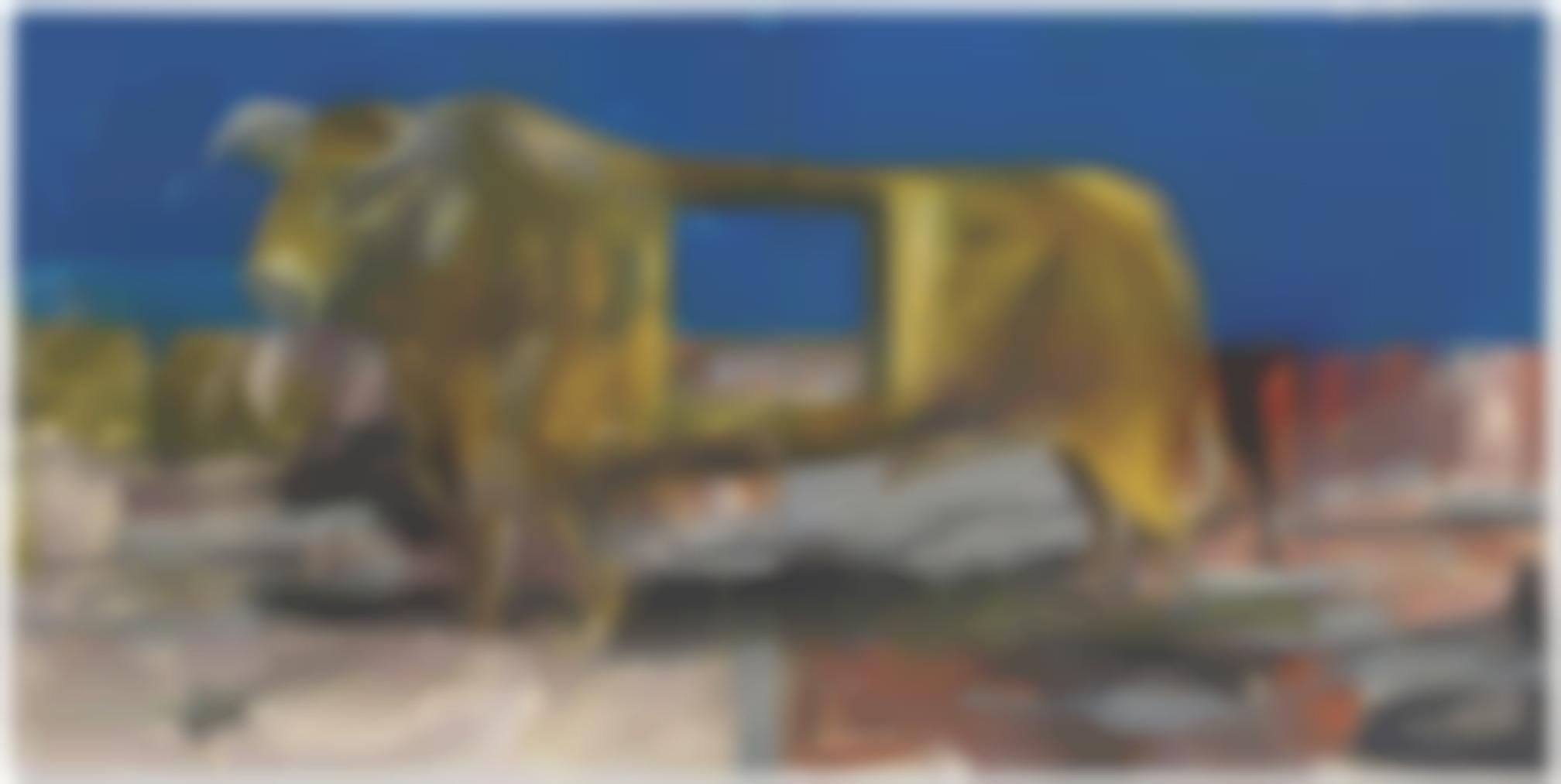Albert Oehlen-Stier Mit Loch (Bull With Hole)-1986