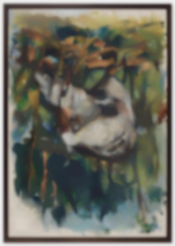 Georg Baselitz-Fingermalerei - Haubentaucher (Finger Painting - Great Crested Grebe)-1972