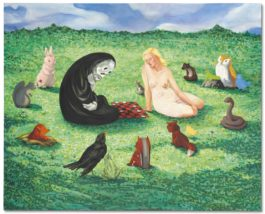 Nicole Eisenman-Death Playing Checkers-2003