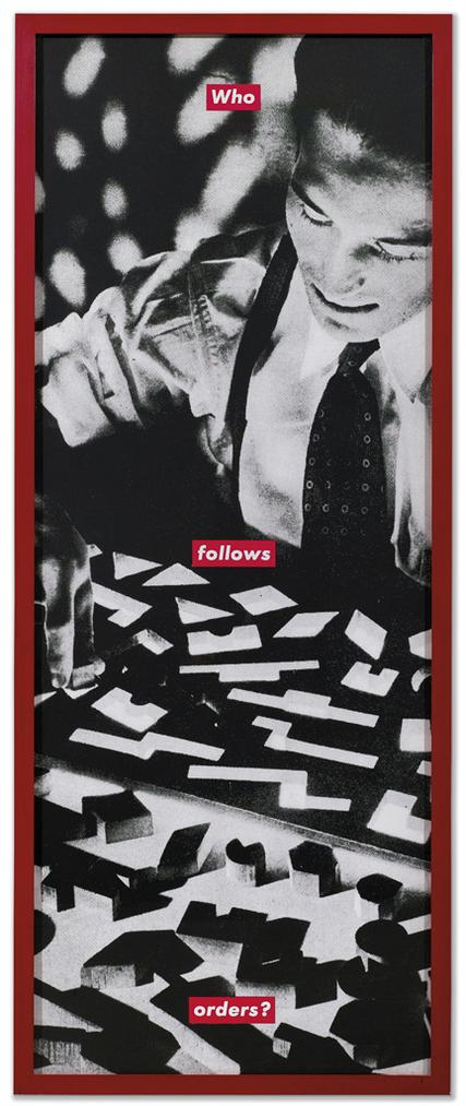 Barbara Kruger-Untitled (Who Follows Orders?)-1990