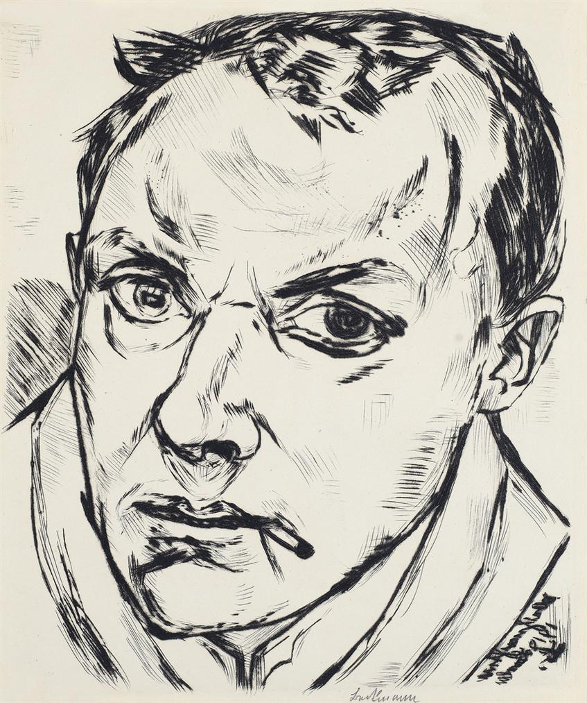 Max Beckmann-Grosses Selbstbildnis (Large Self-Portrait)-1919
