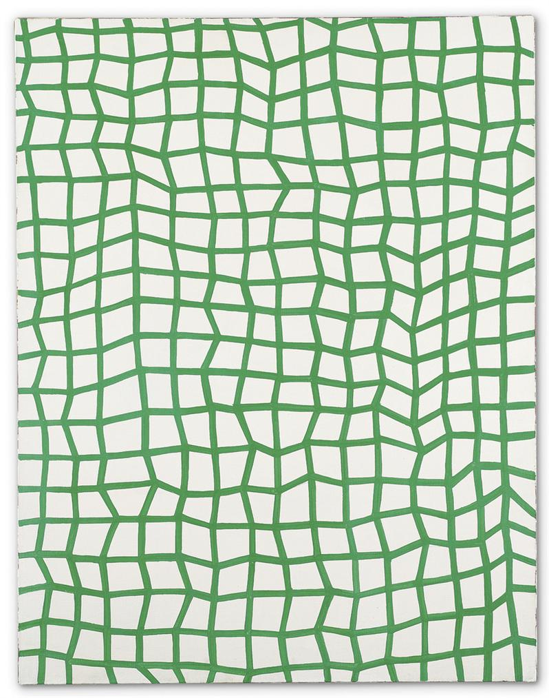 Yayoi Kusama-Interminable Nets (Green No. 53)-1982