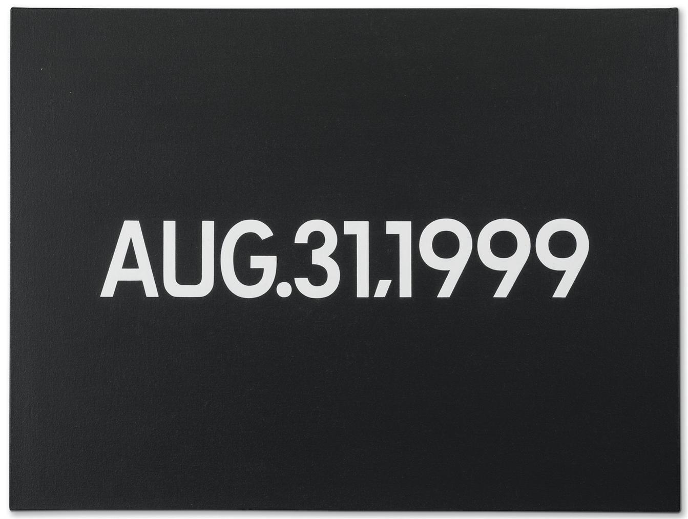 On Kawara-Aug. 31, 1999-1999