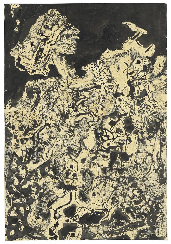 Jean Dubuffet-Paysage Au Corbeau (Landscape With Raven)-1954