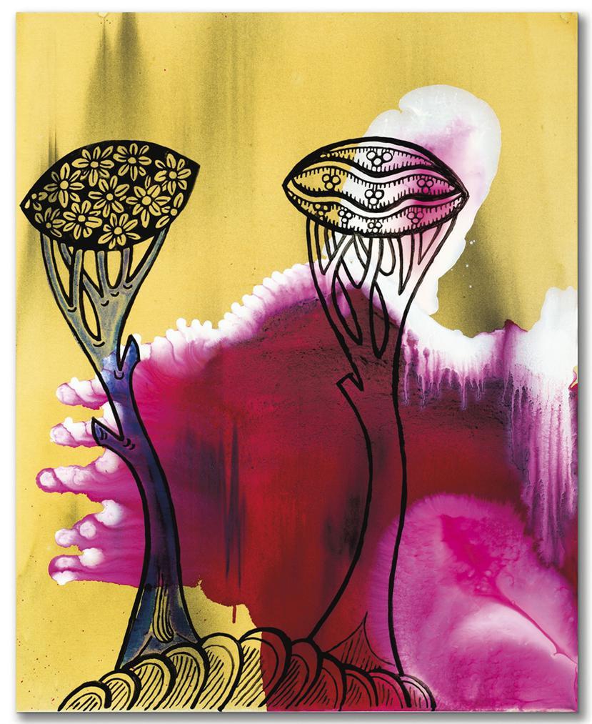 Sigmar Polke-Heraldische Blumen (Heraldic Flowers)-1996